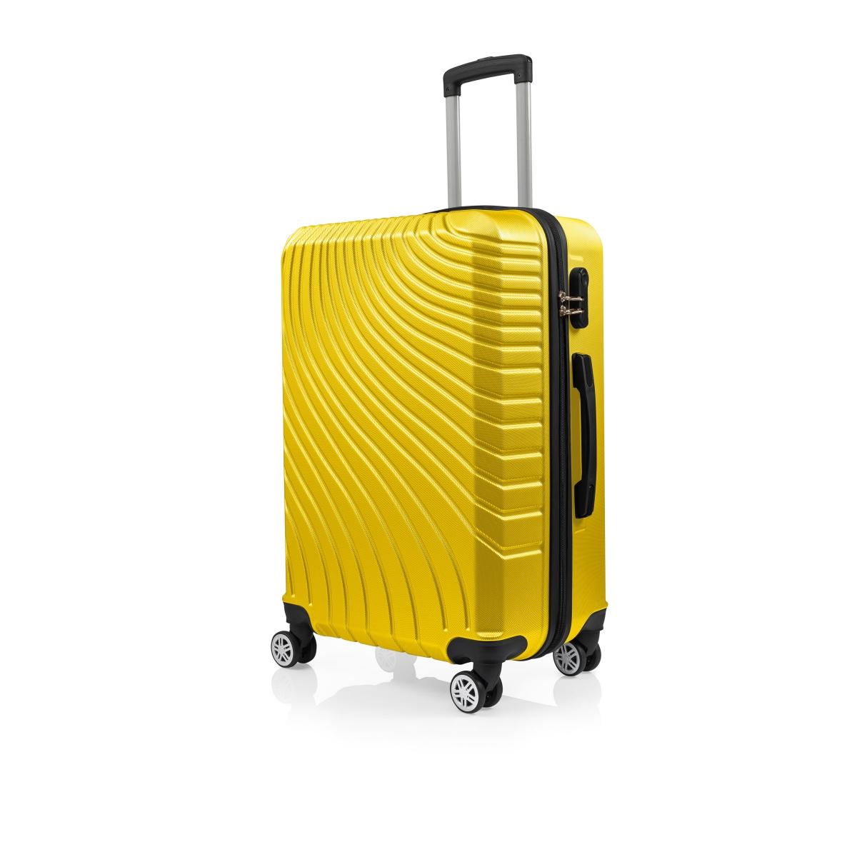 Gedox Abs 3'lü Valiz Seyahat Seti - Model:700.12 Sarı