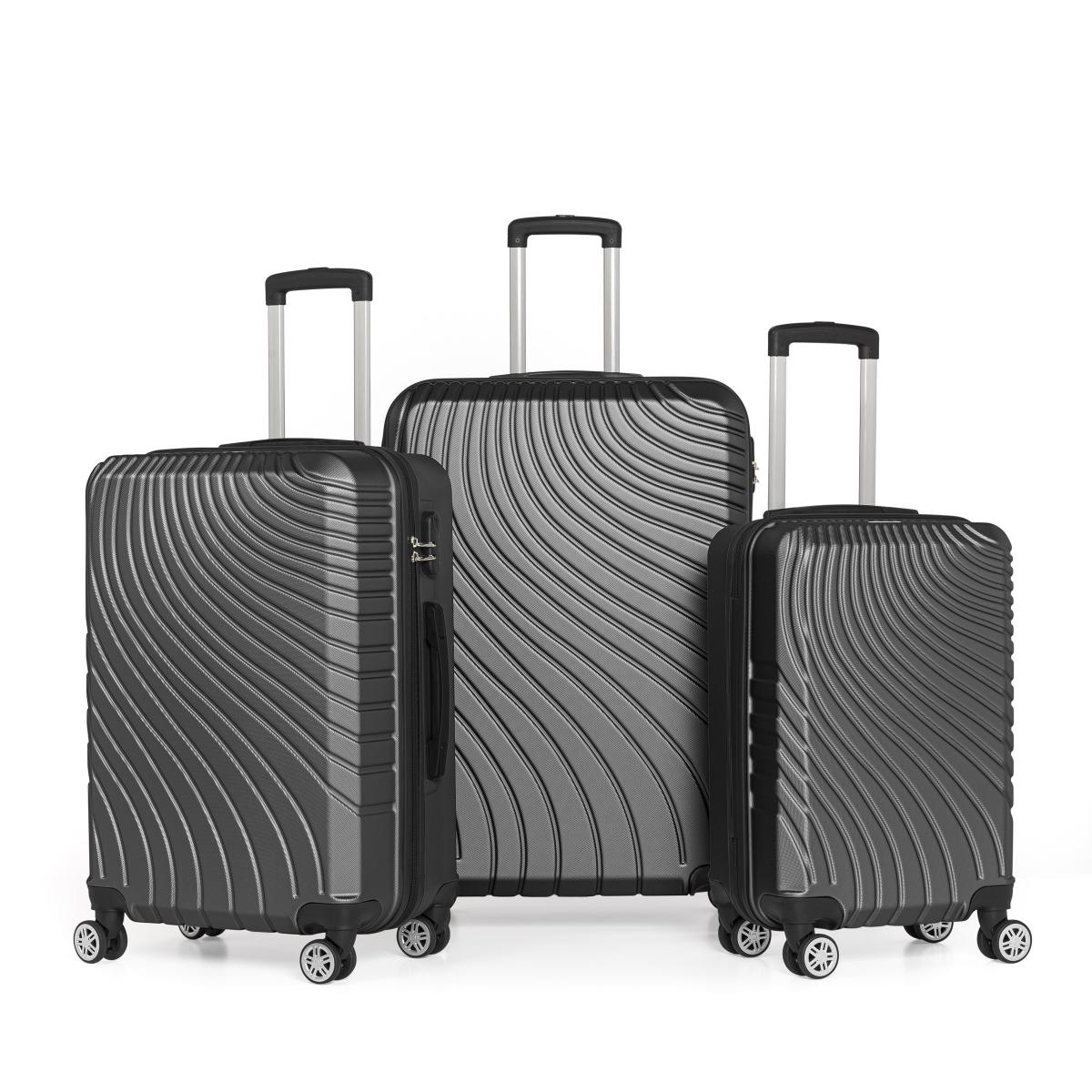Gedox Abs 3'lü Valiz Seyahat Seti - Model:700.01 Siyah