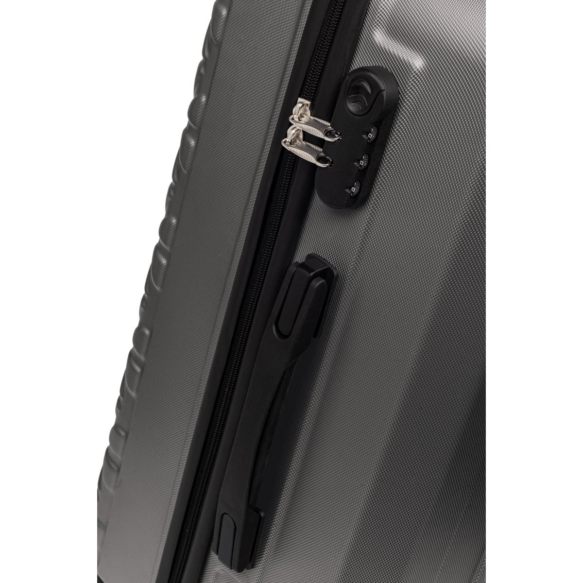 Gedox Abs 3'lü Valiz Seyahat Seti - Model:800.02 Koyu Gri