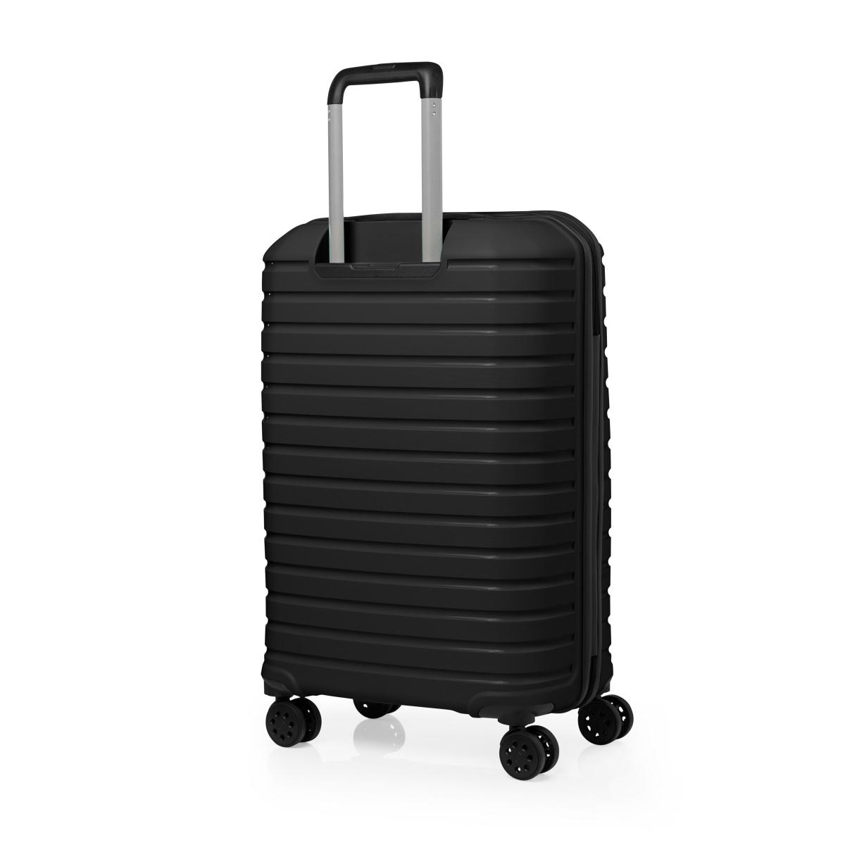 G&D Polo Suitcase PP Enjeksiyon 3'lü Valiz Seyahat Seti - Model 400.01 Siyah