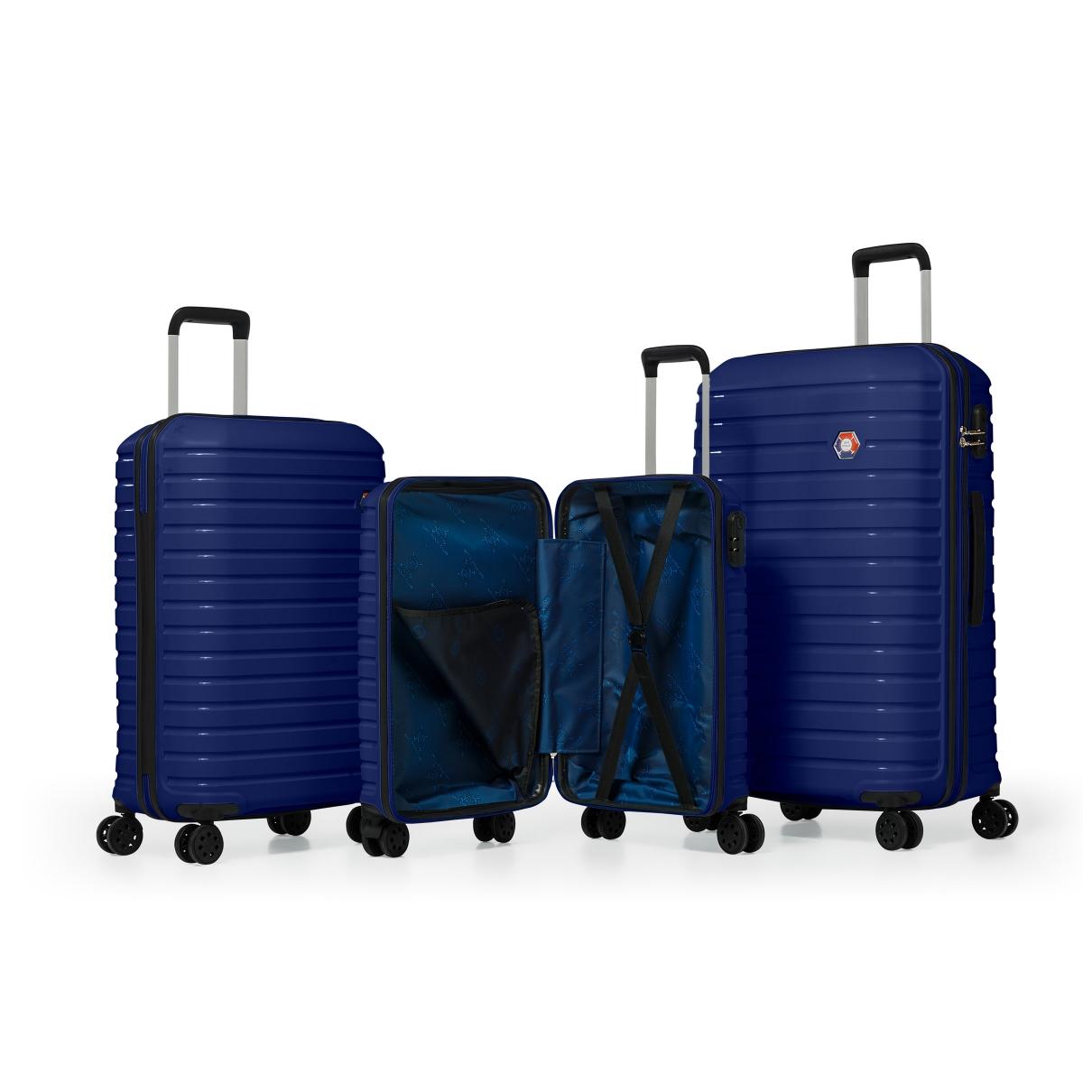 G&D Polo Suitcase PP Enjeksiyon 3'lü Valiz Seyahat Seti - Model 400.04 Lacivert
