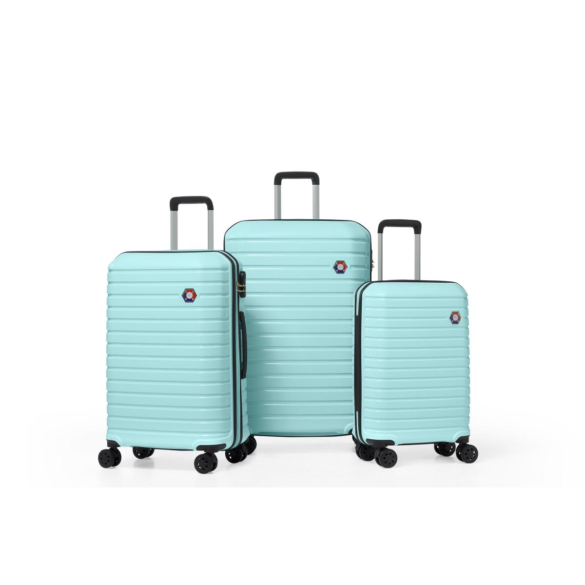 G&D Polo Suitcase PP Enjeksiyon 3'lü Valiz Seyahat Seti - Model 400.07 Su Yeşili