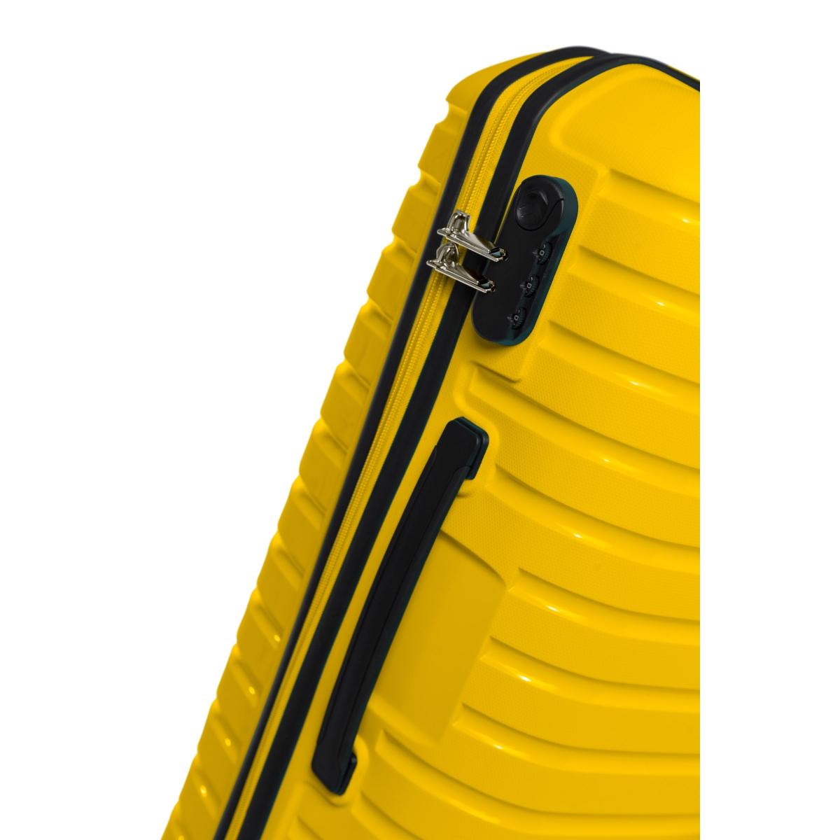 G&D Polo Suitcase PP Enjeksiyon 3'lü Valiz Seyahat Seti - Model 400.12 Sarı