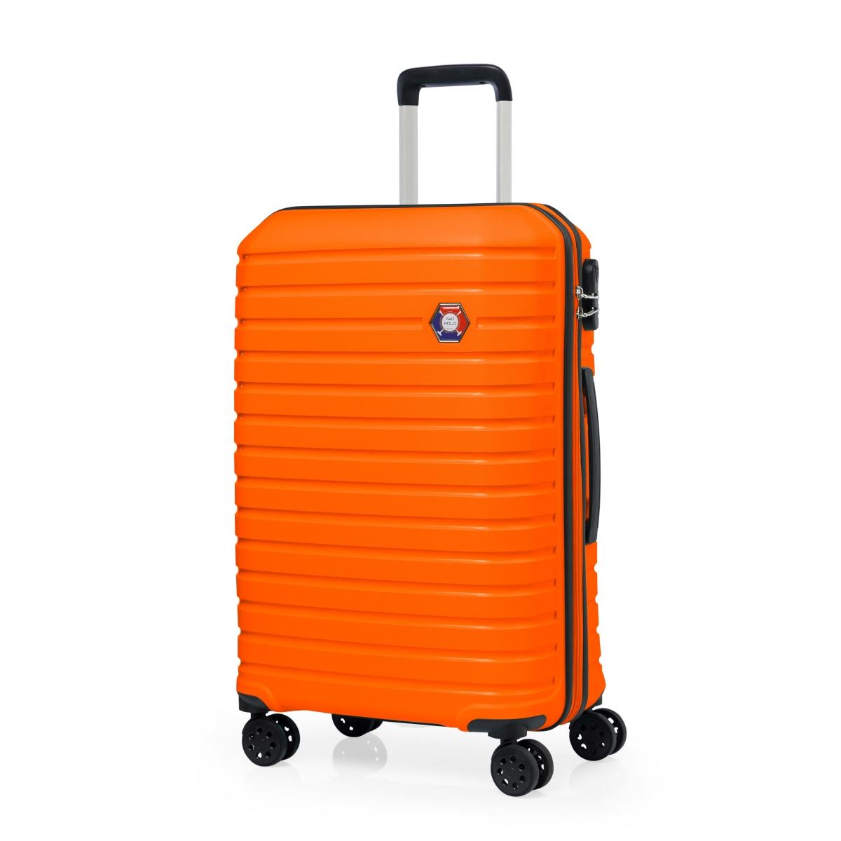 G&D Polo Suitcase PP Enjeksiyon 3'lü Valiz Seyahat Seti - Model 400.15 Turuncu