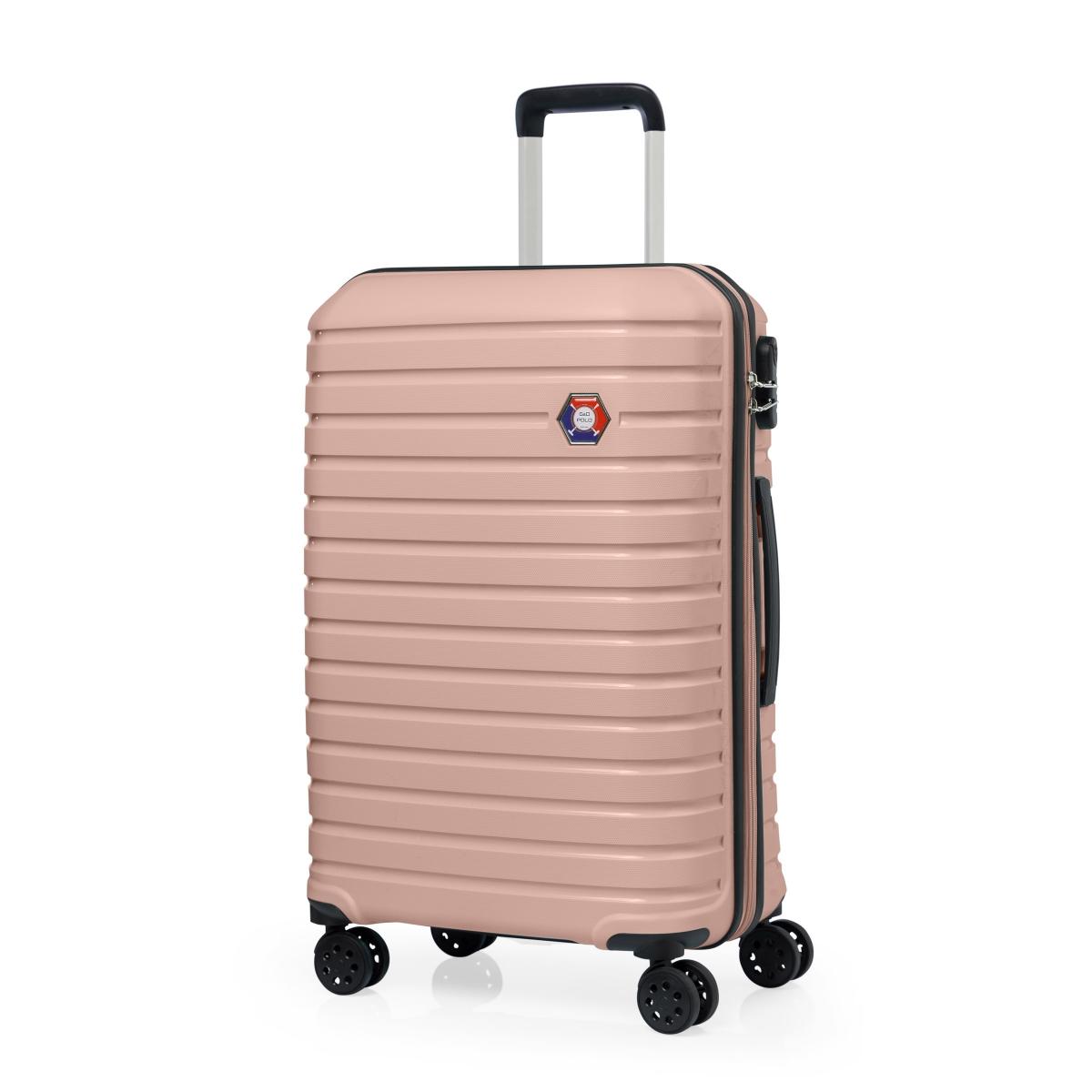 G&D Polo Suitcase PP Enjeksiyon 3'lü Valiz Seyahat Seti - Model 400.17 Somon