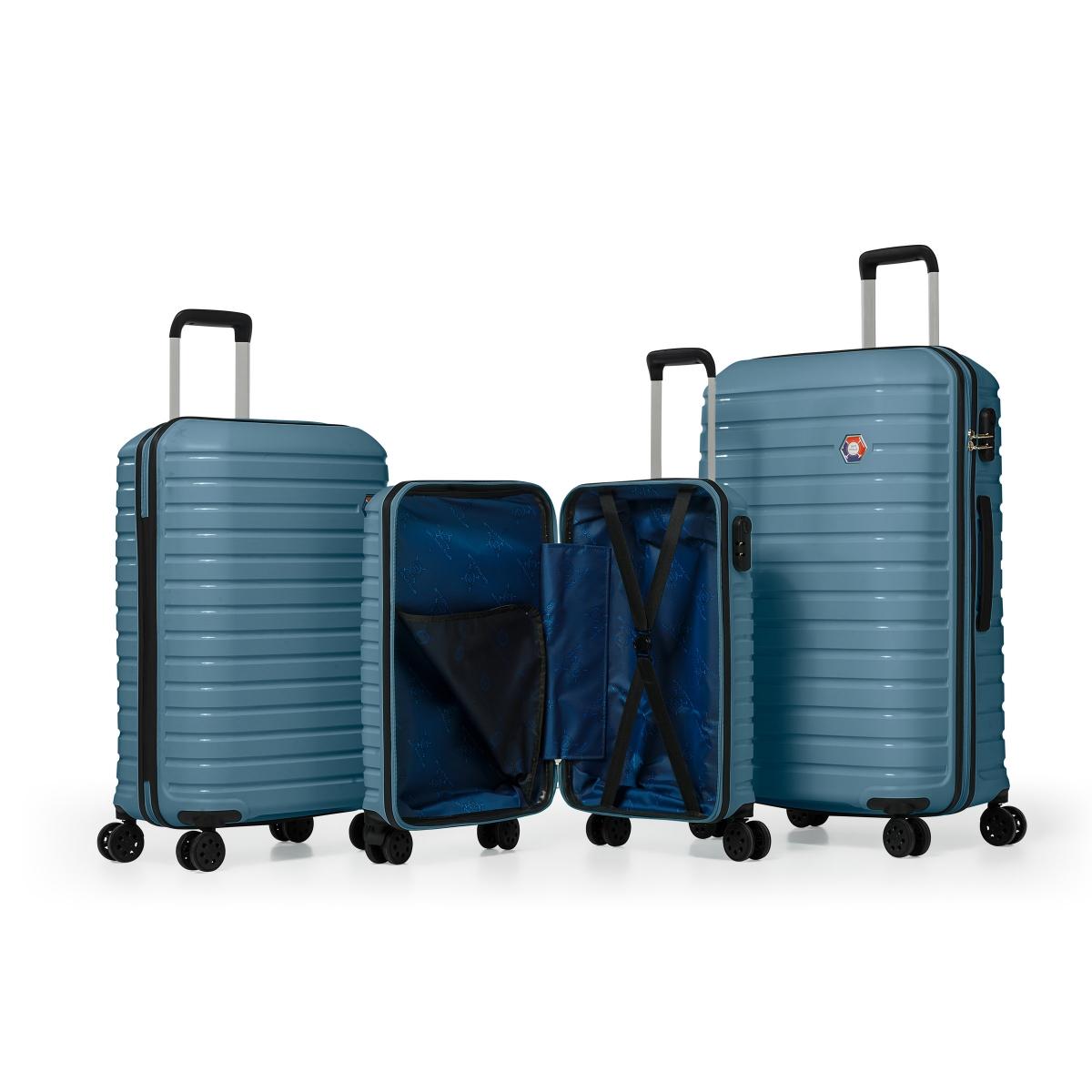 G&D Polo Suitcase PP Enjeksiyon 3'lü Valiz Seyahat Seti - Model 400.18 Tahiti