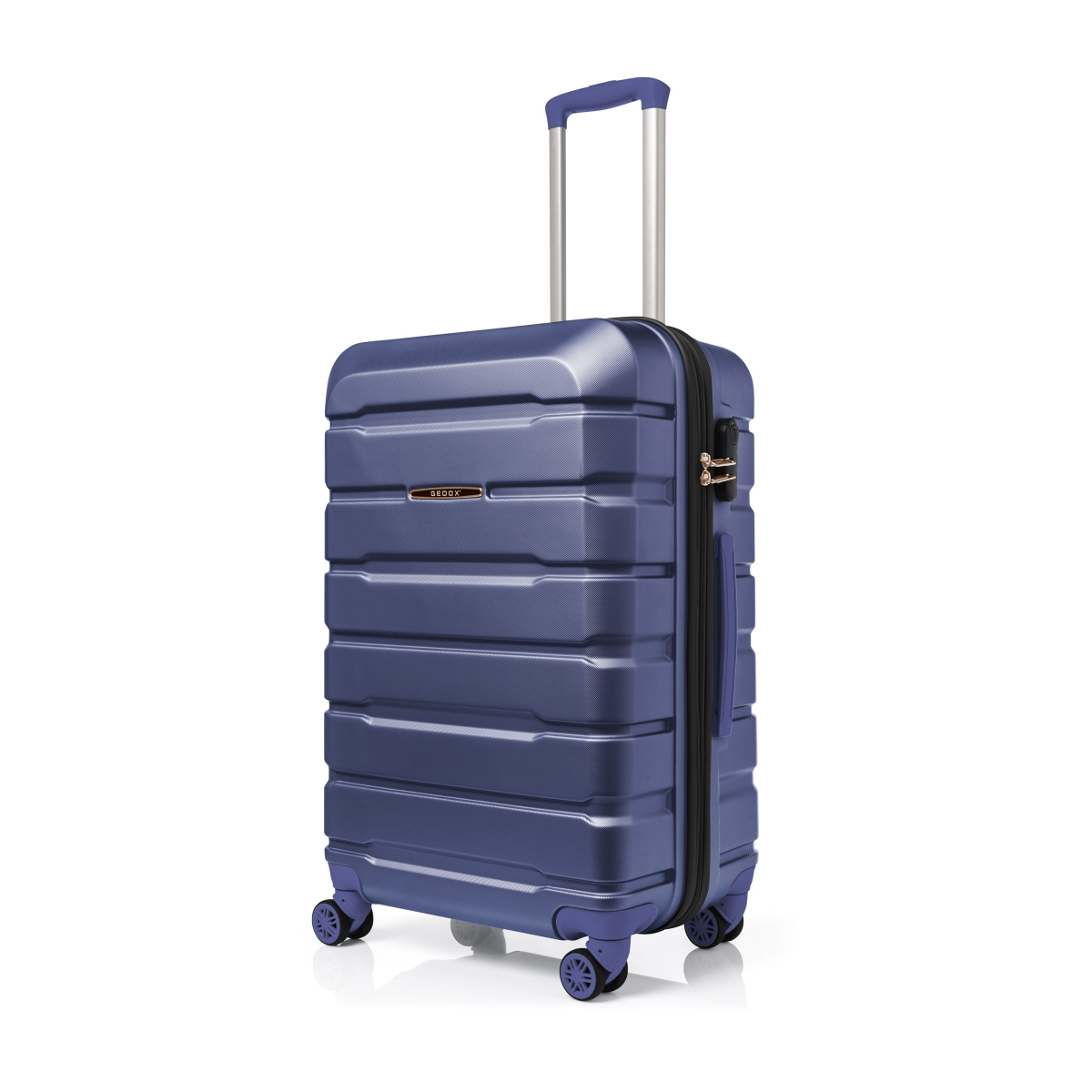 Gedox Abs Premium Tonaton 3'lü Valiz Seyahat Seti - Model:500.05 Çivit Mavi