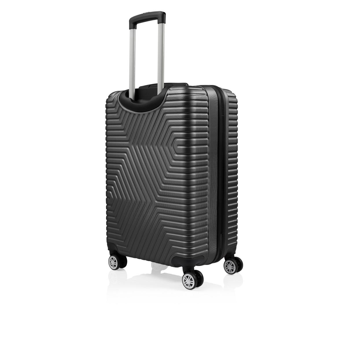G&D Polo Suitcase ABS 3'lü Lüx Valiz Seyahat  Seti - Model:600.01 Siyah