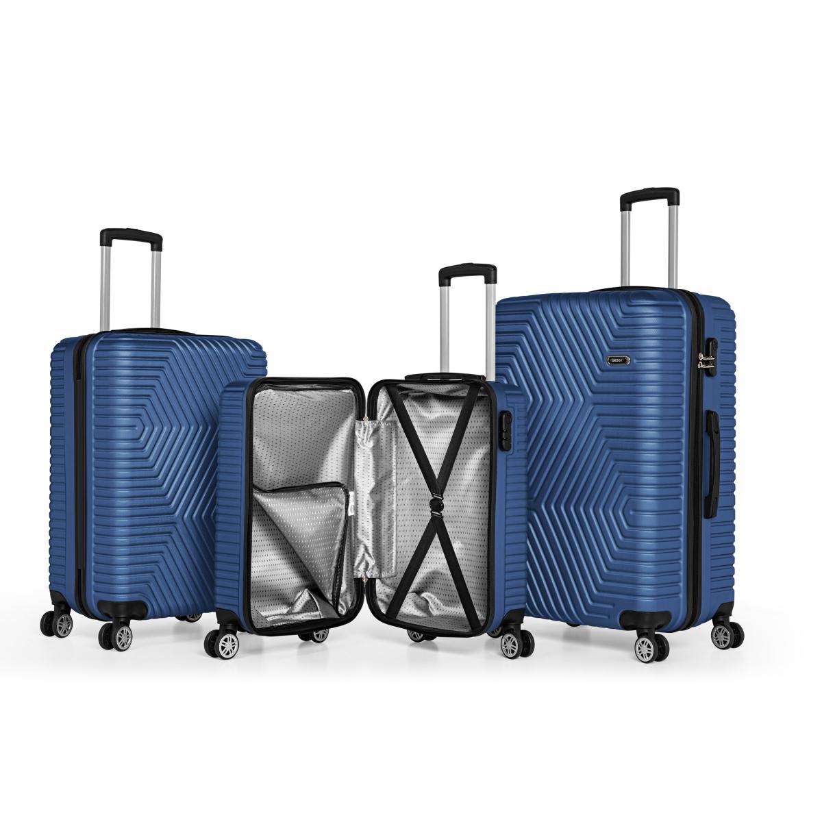 G&D Polo Suitcase ABS 3'lü Lüx Valiz Seyahat Seti - Model:600.05 Çivit Mavi