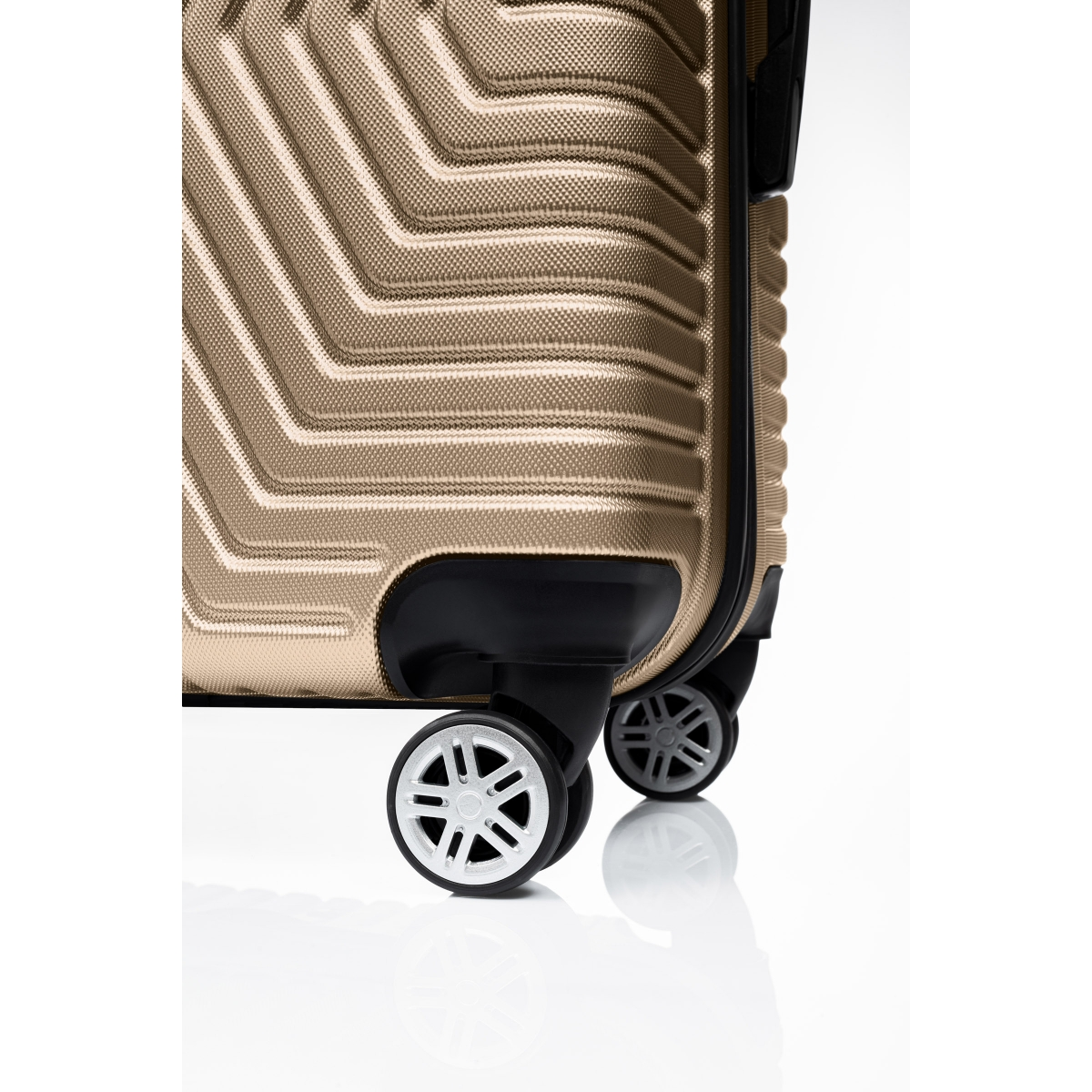 G&D Polo Suitcase ABS 3'lü Lüx Valiz Seyahat Seti - Model:600.06 Gold