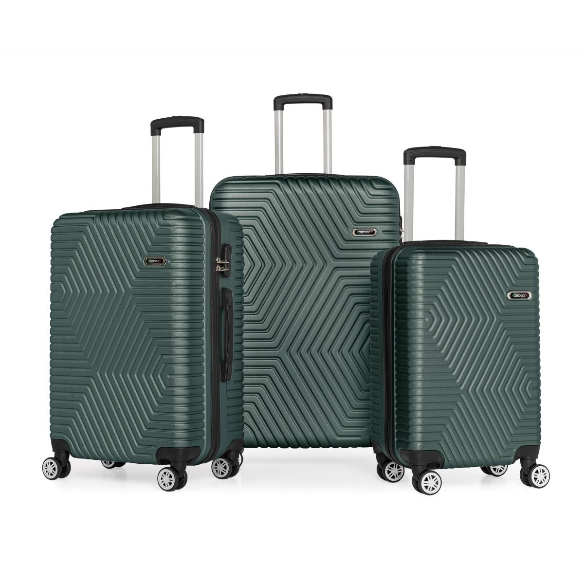 G&D Polo Suitcase ABS 3'lü Lüx Valiz Seyahat Seti - Model:600.07 Haki Yeşil
