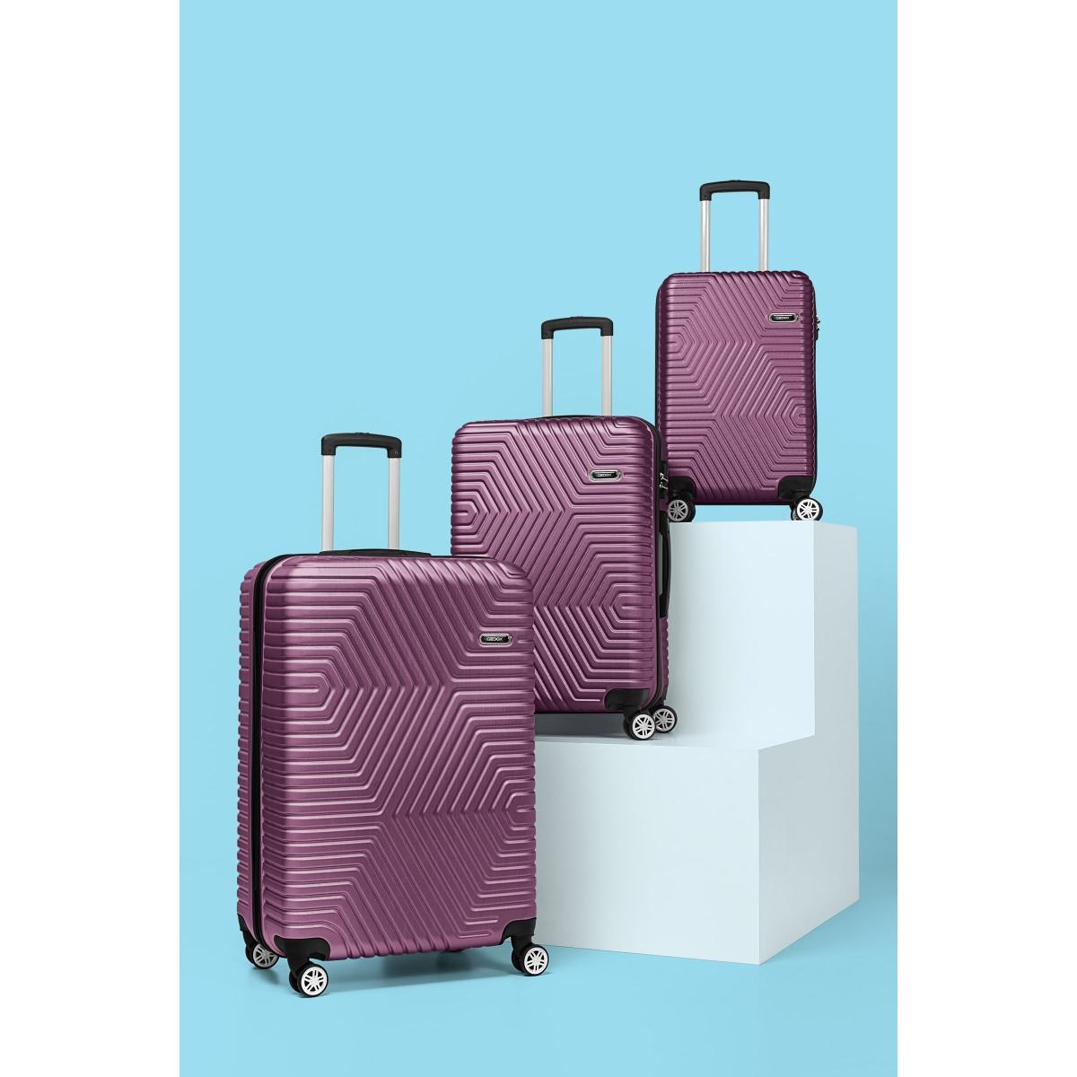 G&D Polo Suitcase ABS 3'lü Lüx Valiz Seyahat Seti - Model:600.09 Mürdüm