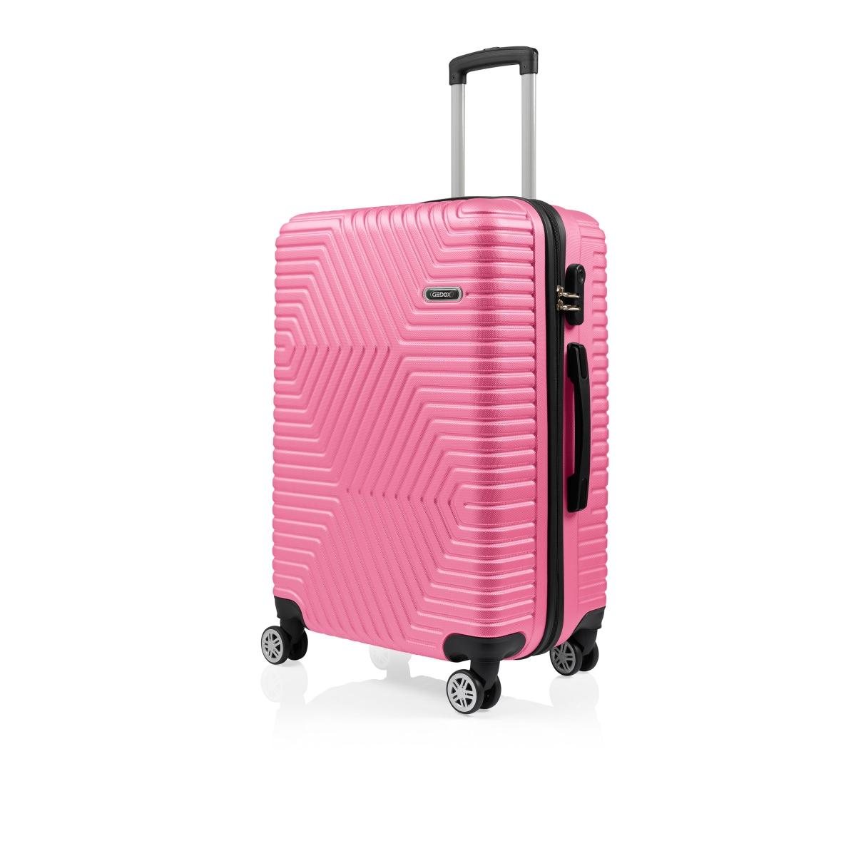 G&D Polo Suitcase ABS 3'lü Lüx Valiz Seyahat Seti - Model:600.11 Pudra Pembe