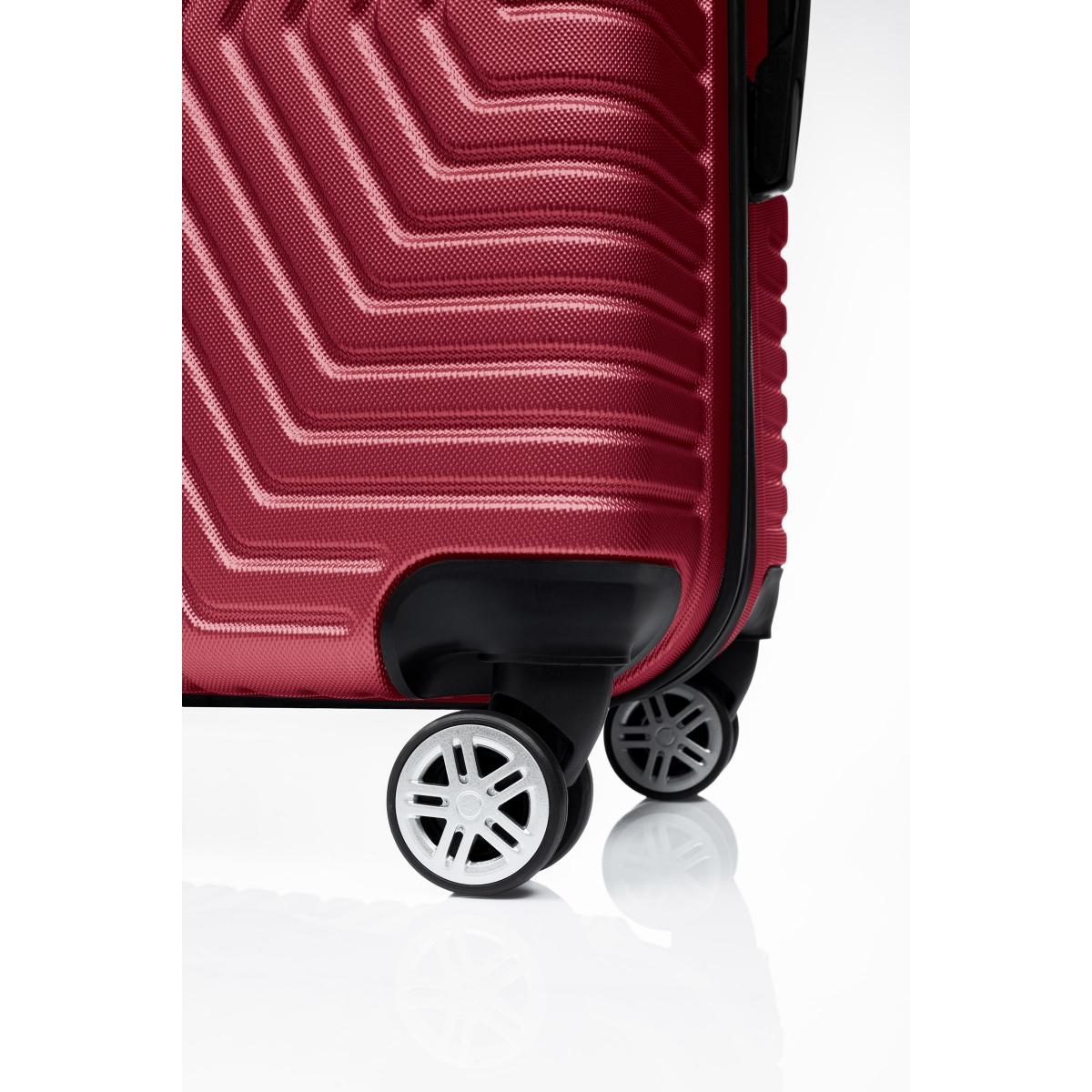 G&D Polo Suitcase ABS 3'lü Lüx Valiz Seyahat Seti - Model:600.13 Bordo
