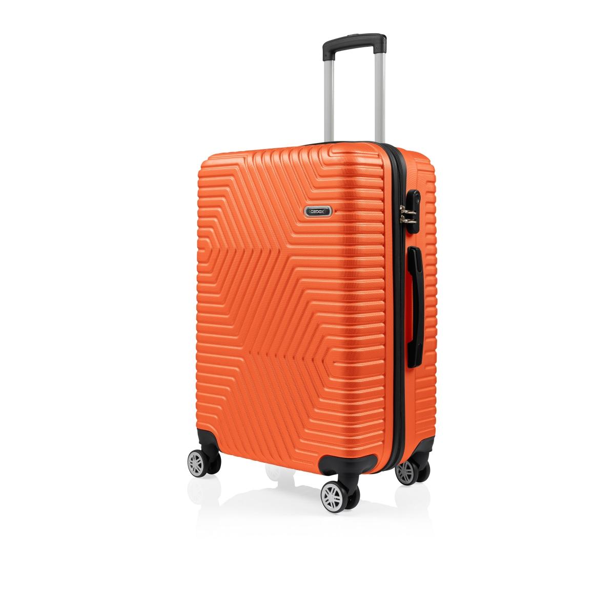 G&D Polo Suitcase ABS 3'lü Lüx Valiz Seyahat Seti - Model:600.15 Turuncu