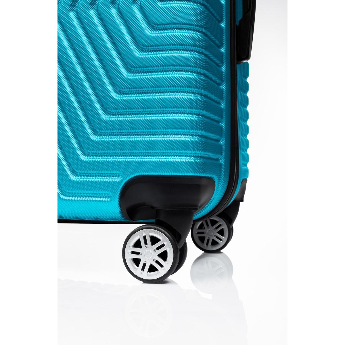 G&D Polo Suitcase ABS 3'lü Lüx Valiz Seyahat Seti - Model:600.16 Turkuaz