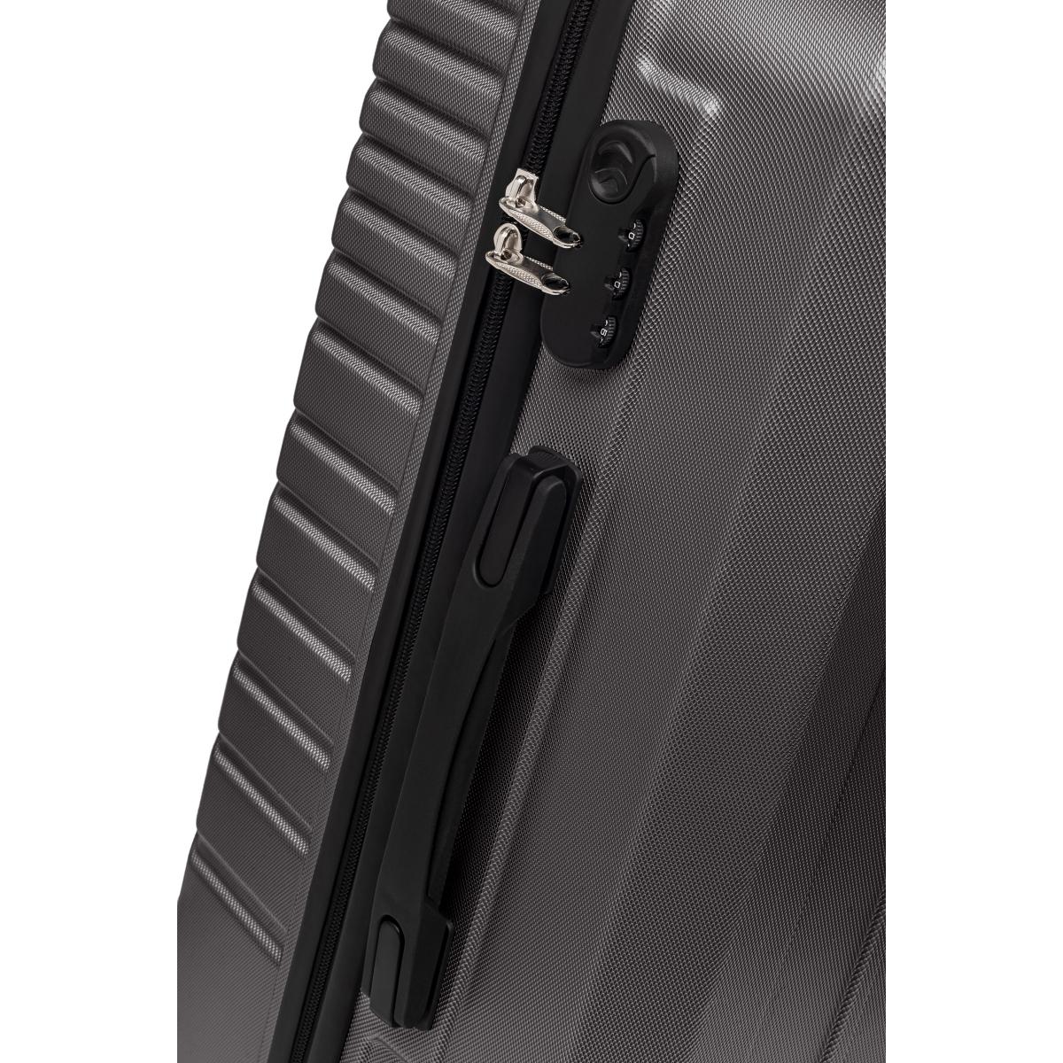 Gedox Abs 3'lü Valiz Seyahat Seti - Model:700.02 Koyu Gri