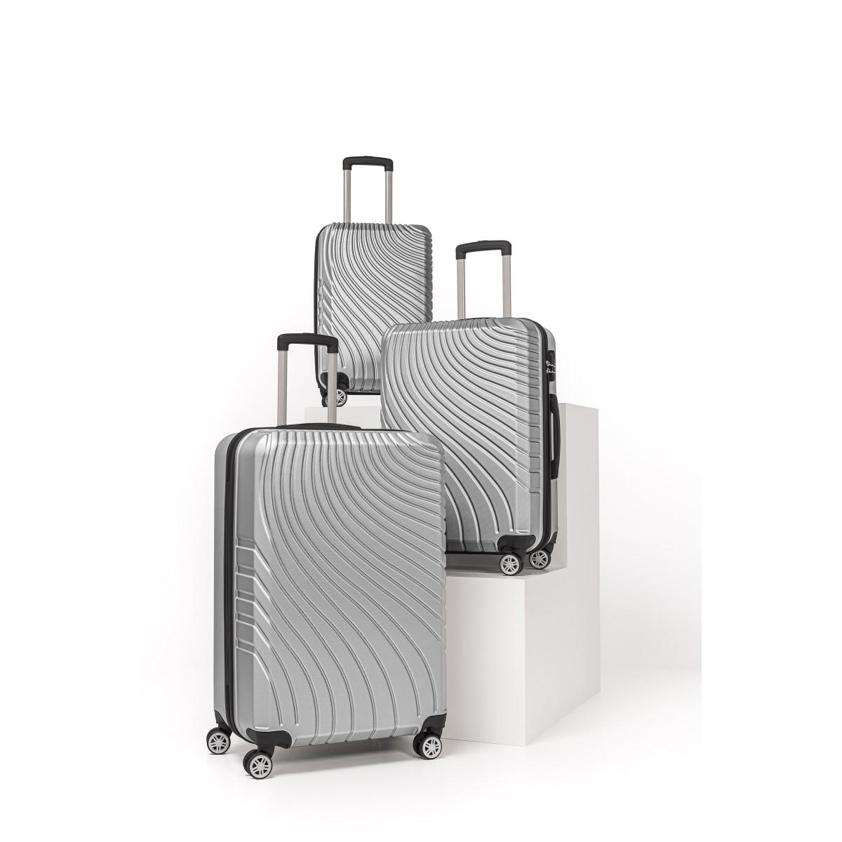 Gedox Abs 3'lü Valiz Seyahat Seti - Model:700.03 Gri