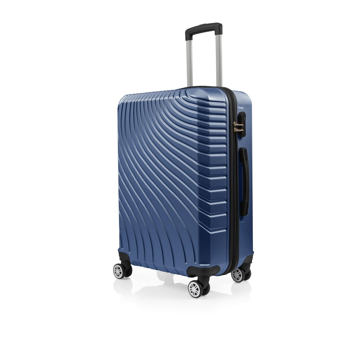 Gedox Abs 3'lü Valiz Seyahat Seti - Model:700.05 Çivit Mavi