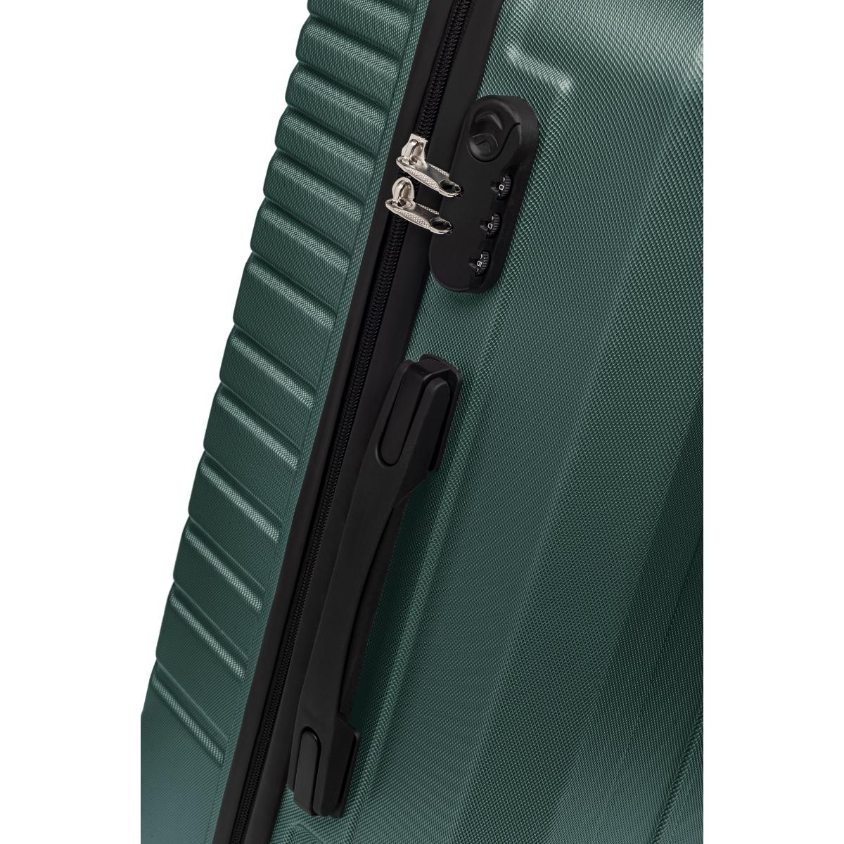 Gedox Abs 3'lü Valiz Seyahat Seti - Model:700.07 Haki Yeşil