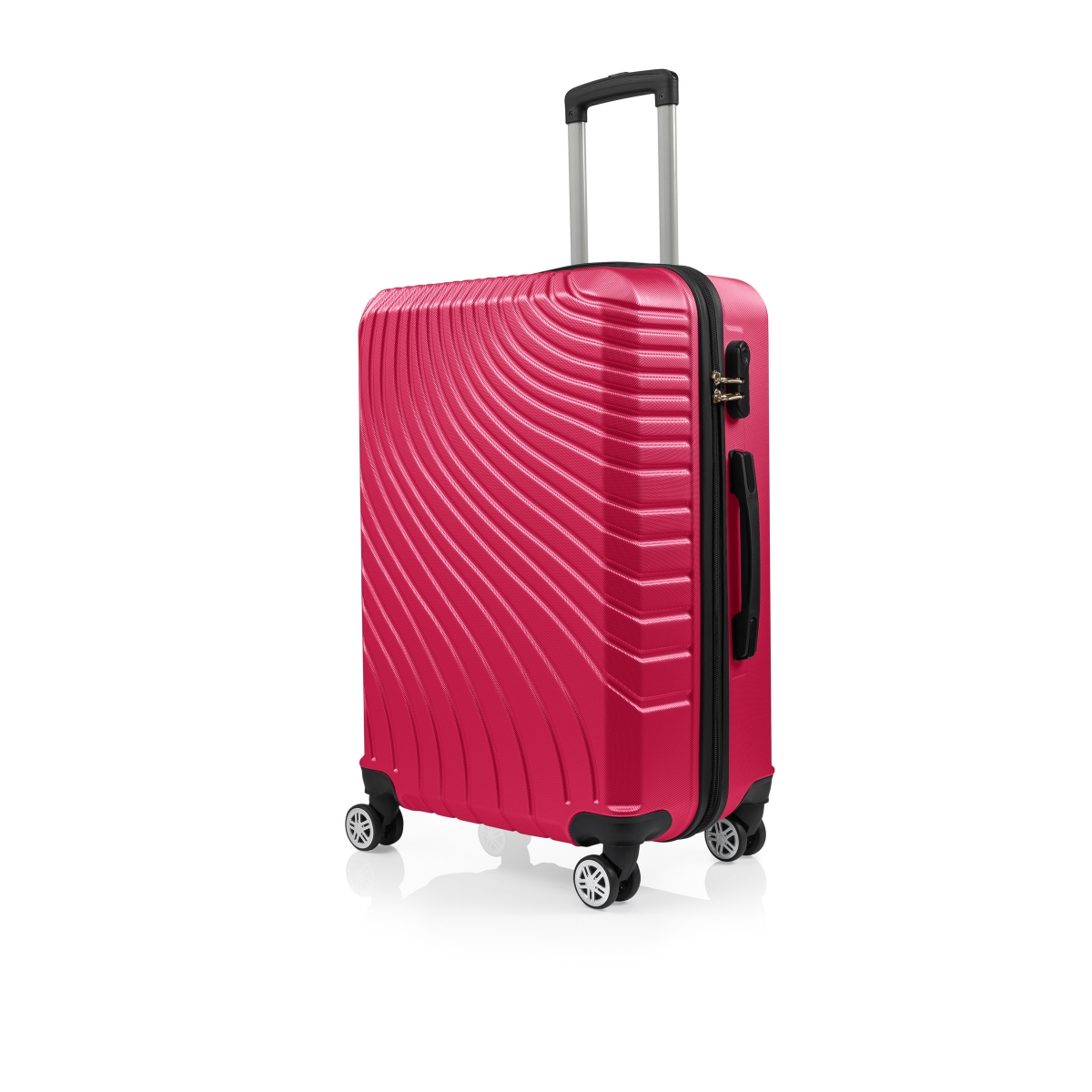 Gedox Abs 3'lü Valiz Seyahat Seti - Model:700.10 Fuşya Pembe