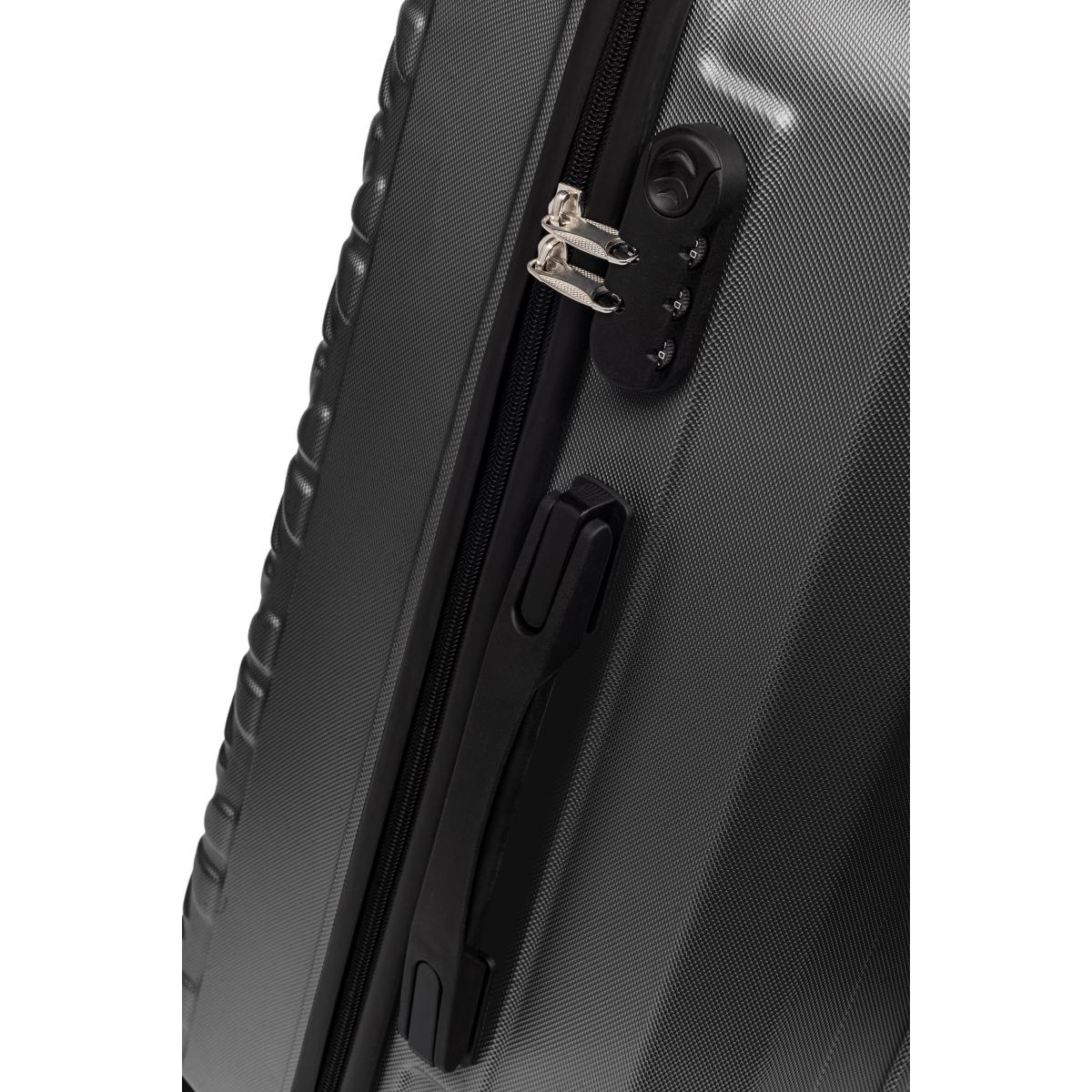 Gedox Abs 3'lü Valiz Seyahat Seti - Model:800.01 Siyah