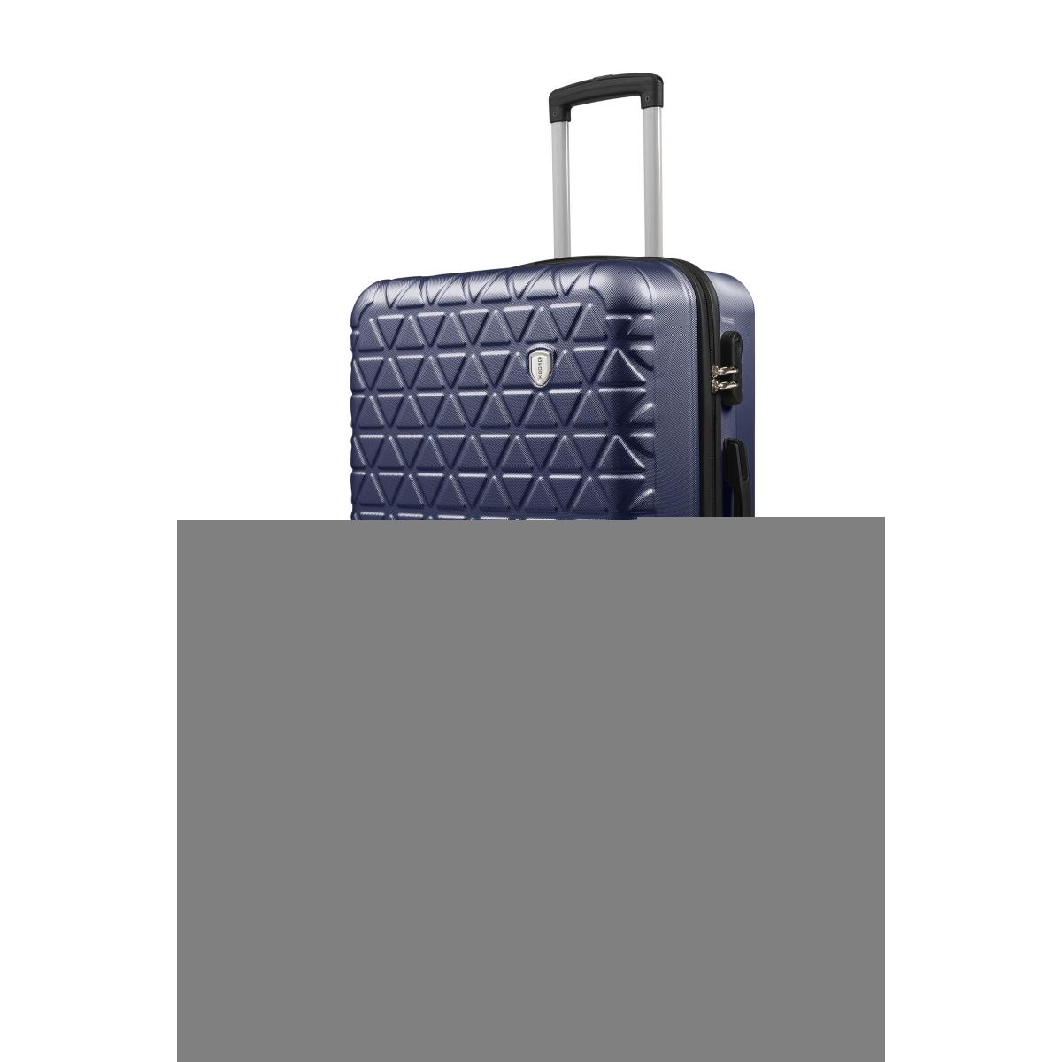 Gedox Abs 3'lü Valiz Seyahat Seti - Model:800.04 Lacivert