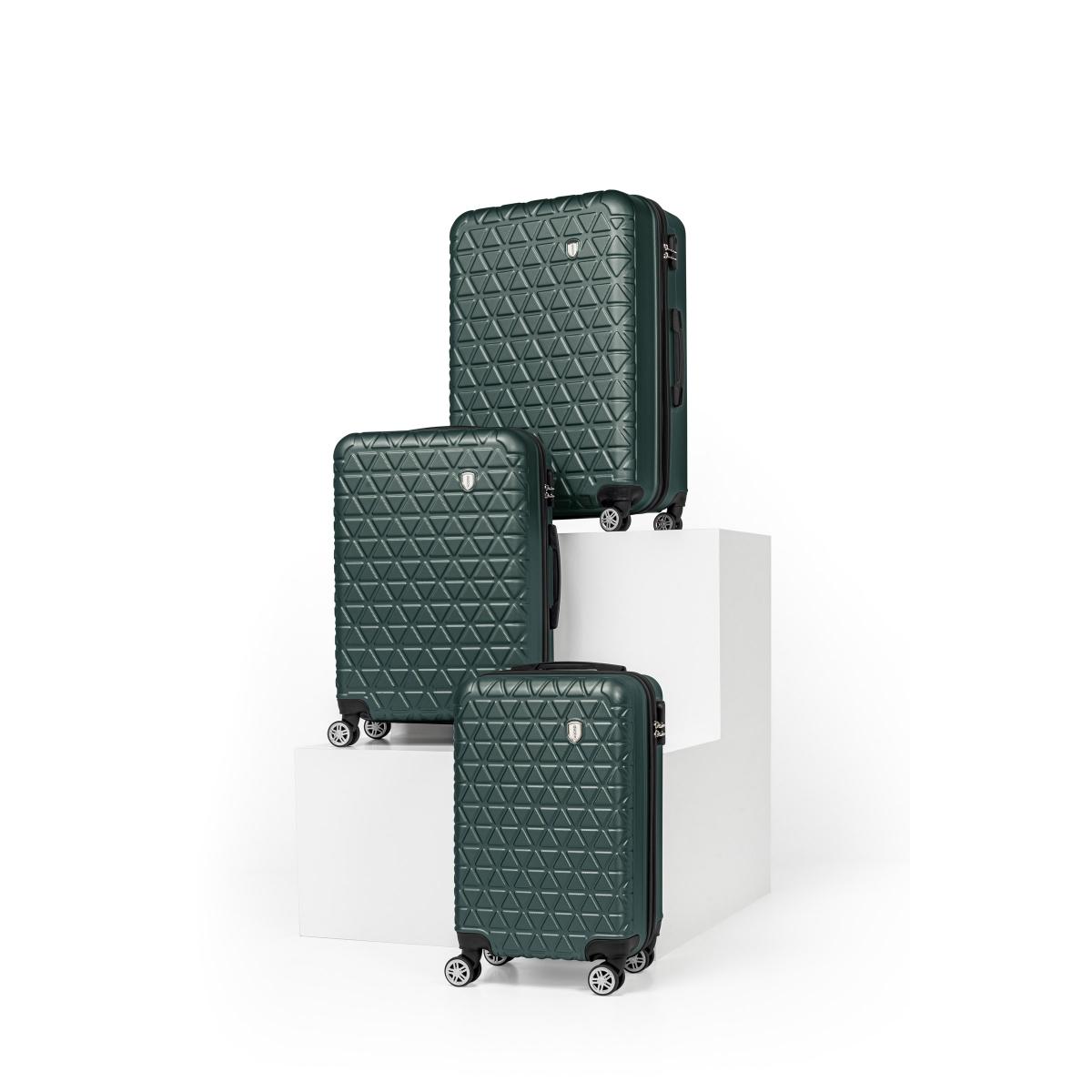 Gedox Abs 3'lü Valiz Seyahat Seti - Model:800.07 Haki Yeşil
