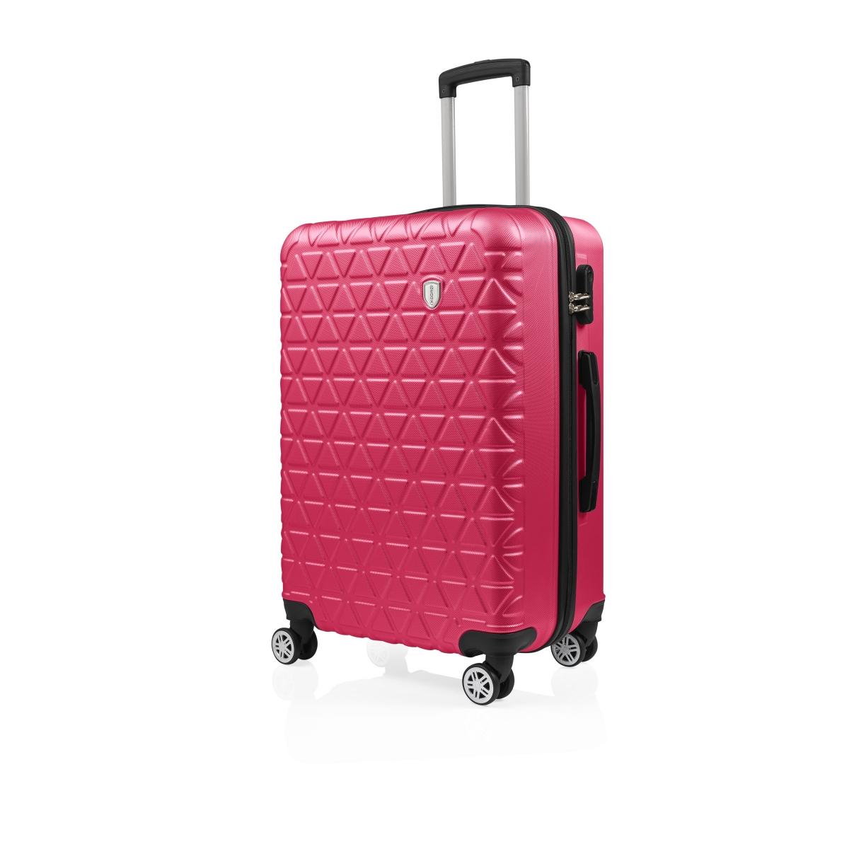 Gedox Abs 3'lü Valiz Seyahat Seti - Model:800.10 Fuşya Pembe