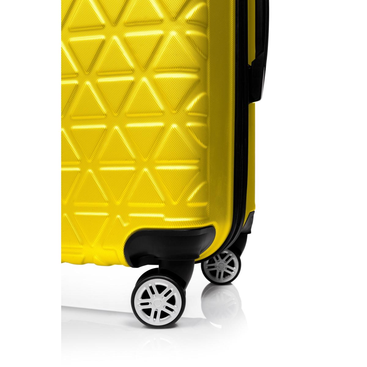 Gedox Abs 3'lü Valiz Seyahat Seti - Model:800.12 Sarı