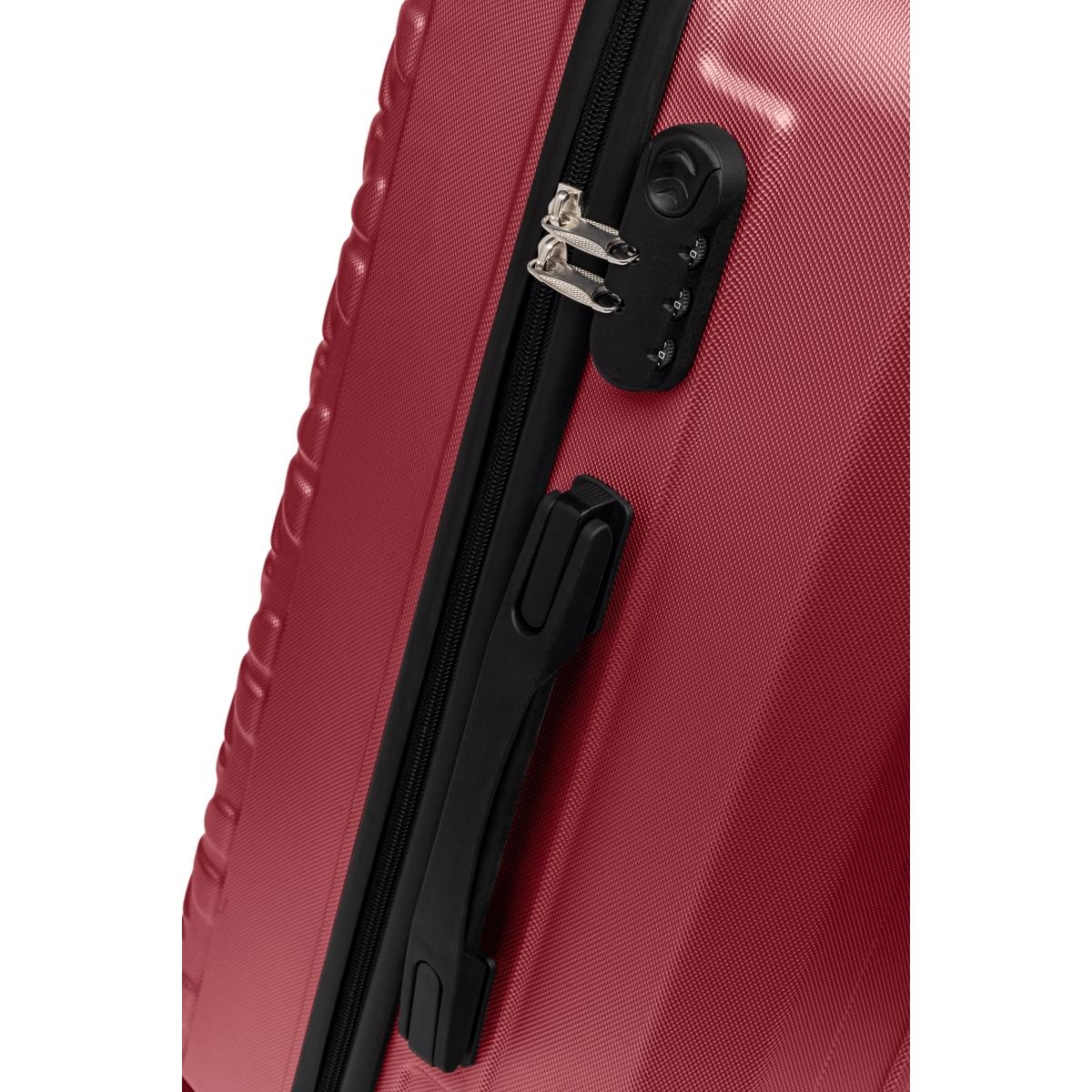 Gedox Abs 3'lü Valiz Seyahat Seti - Model:800.13 Bordo