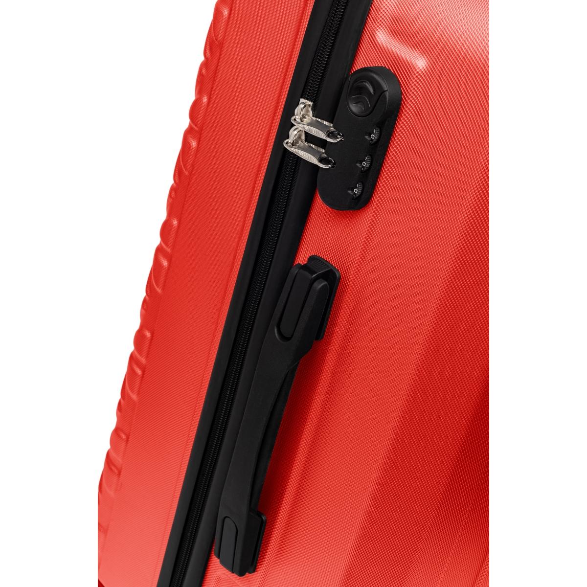 Gedox Abs 3'lü Valiz Seyahat Seti - Model:800.14 Kırmızı