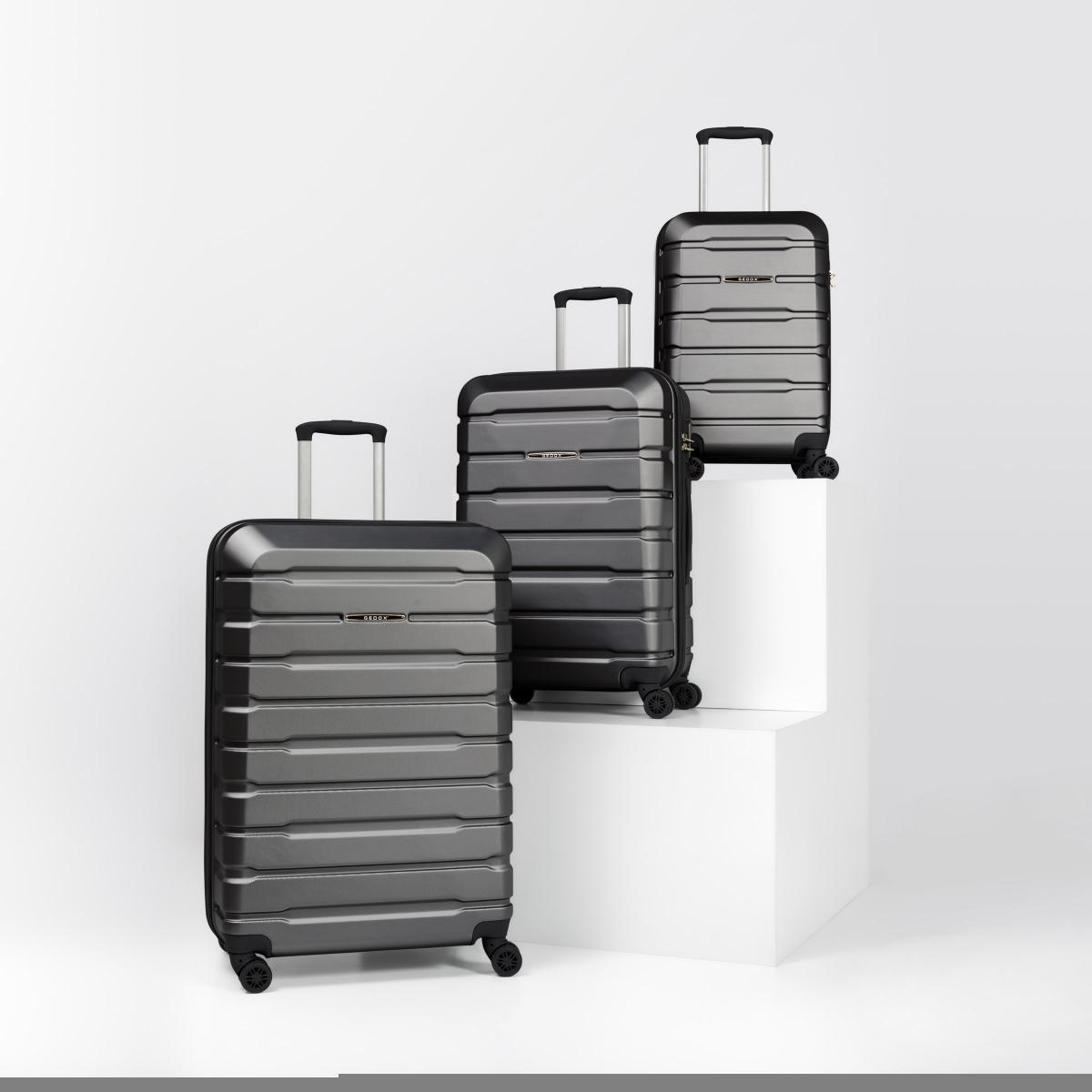 Gedox Abs Premium Tonaton 3'lü Valiz Seyahat Seti - Model:500.02 Koyu Gri