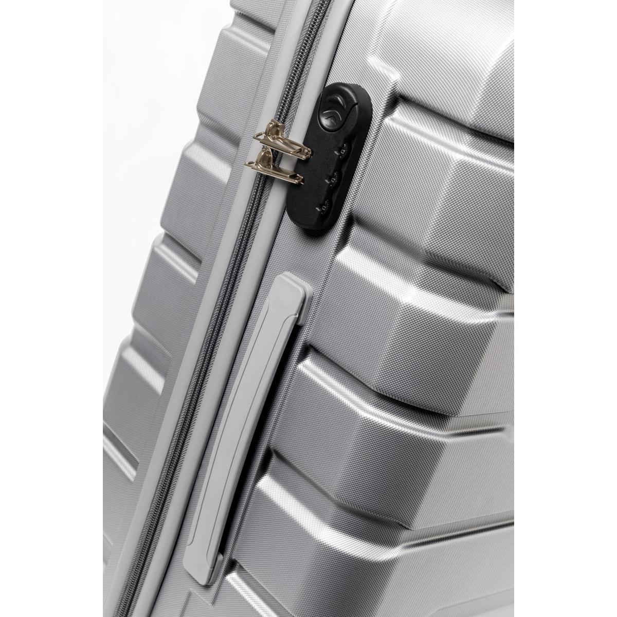 Gedox Abs Premium Tonaton 3'lü Valiz Seyahat Seti - Model:500.03  Gri