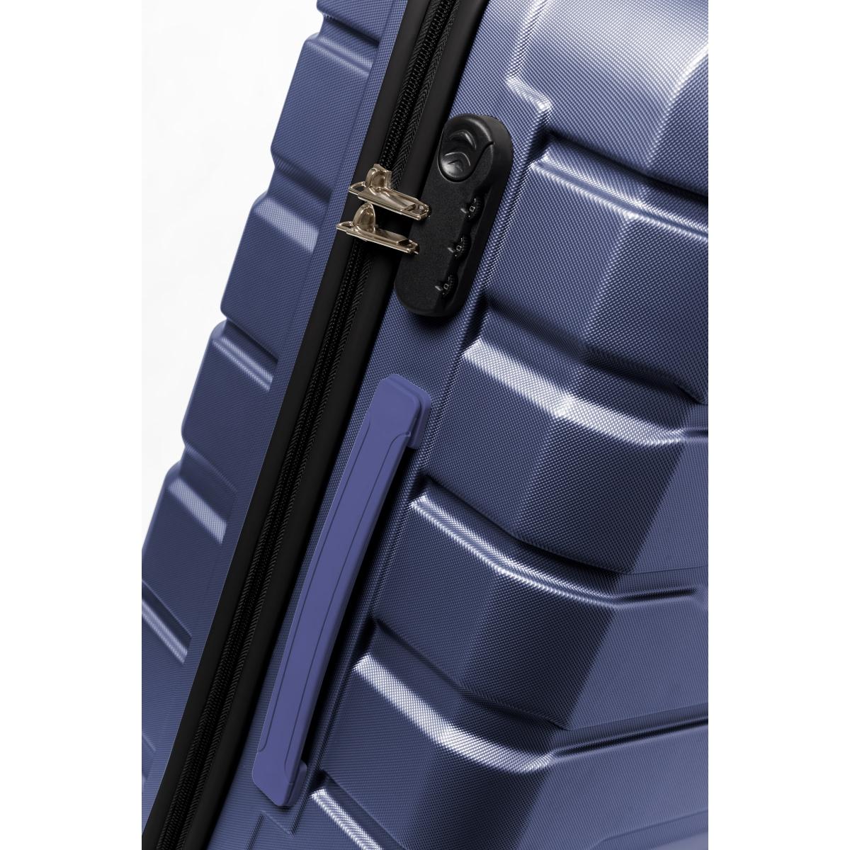 Gedox Abs Premium Tonaton 3'lü Valiz Seyahat Seti - Model:500.04 Lacivert