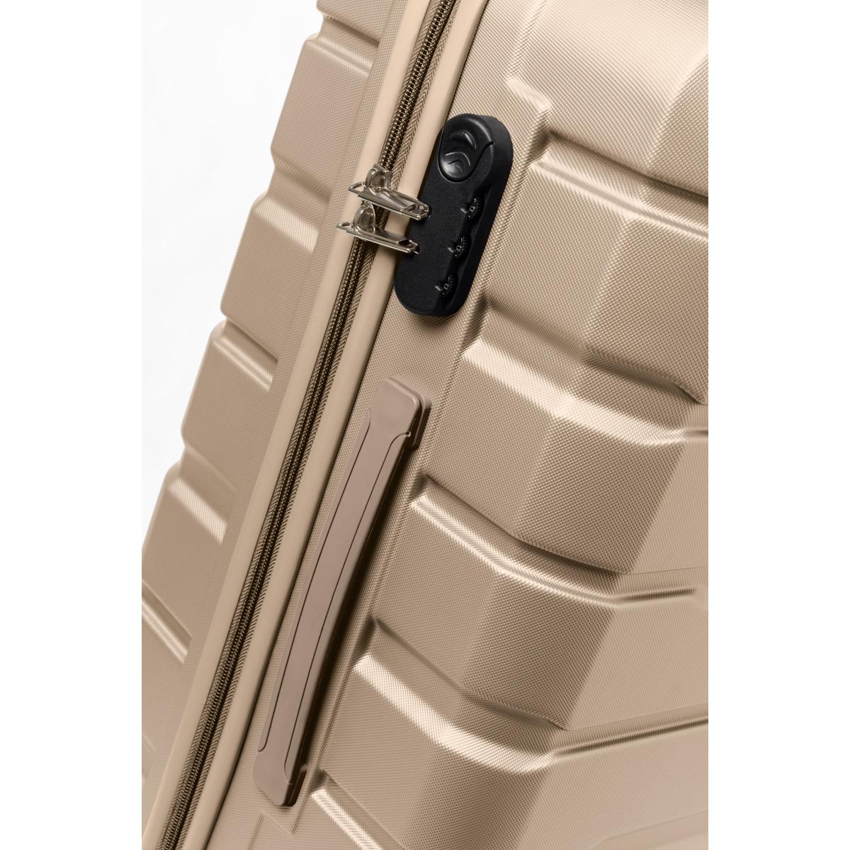 Gedox Abs Premium Tonaton 3'lü Valiz Seyahat Seti - Model:500.06 Gold