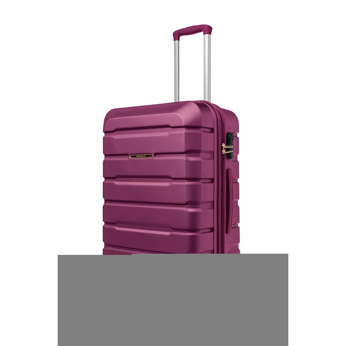 Gedox Abs Premium Tonaton 3'lü Valiz Seyahat Seti - Model:500.09 Mürdüm