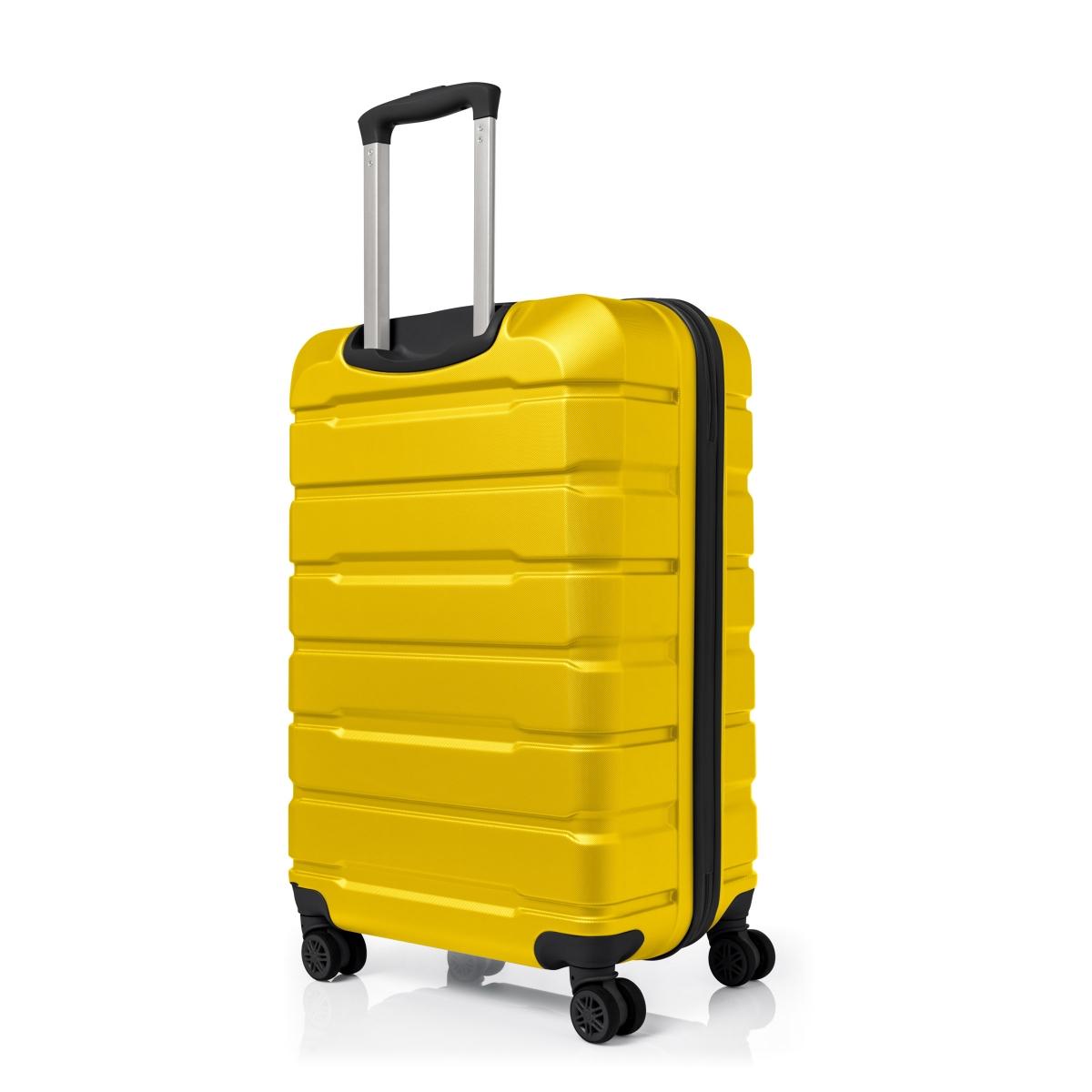 Gedox Abs Premium Tonaton 3'lü Valiz Seyahat Seti - Model:500.12 Sarı