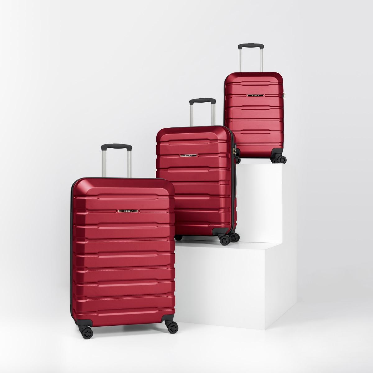 Gedox Abs Premium Tonaton 3'lü Valiz Seyahat Seti - Model:500.13 Bordo