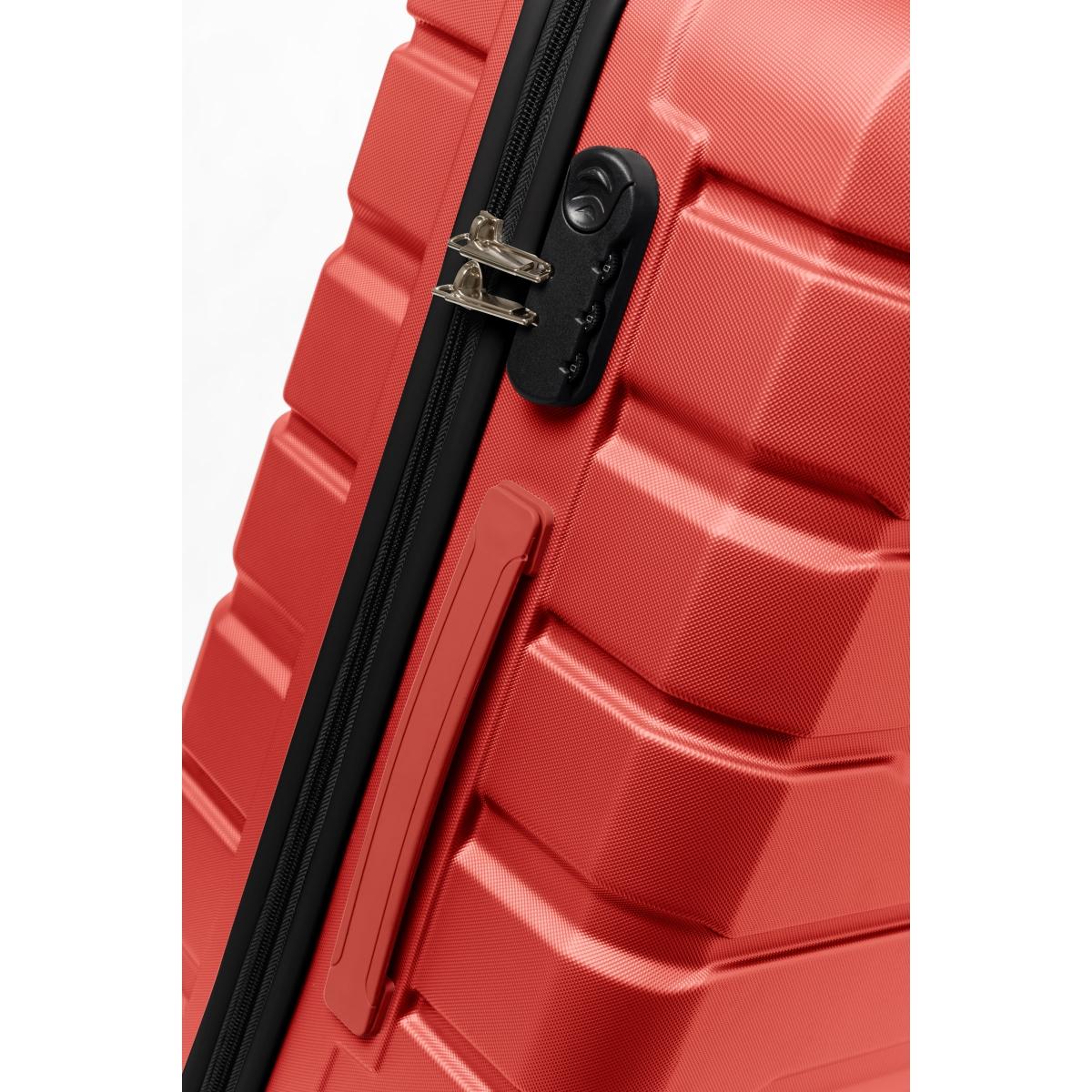 Gedox Abs Premium Tonaton 3'lü Valiz Seyahat Seti - Model:500.14 Kırmızı