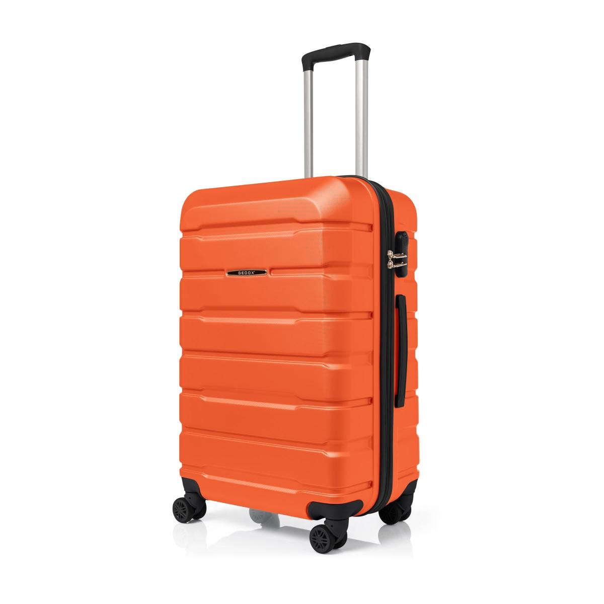 Gedox Abs Premium Tonaton 3'lü Valiz Seyahat Seti - Model:500.15 Turuncu
