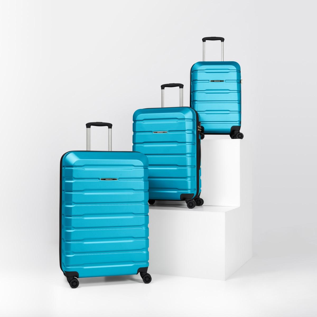 Gedox Abs Premium Tonaton 3'lü Valiz Seyahat Seti - Model:500.16 Turkuaz