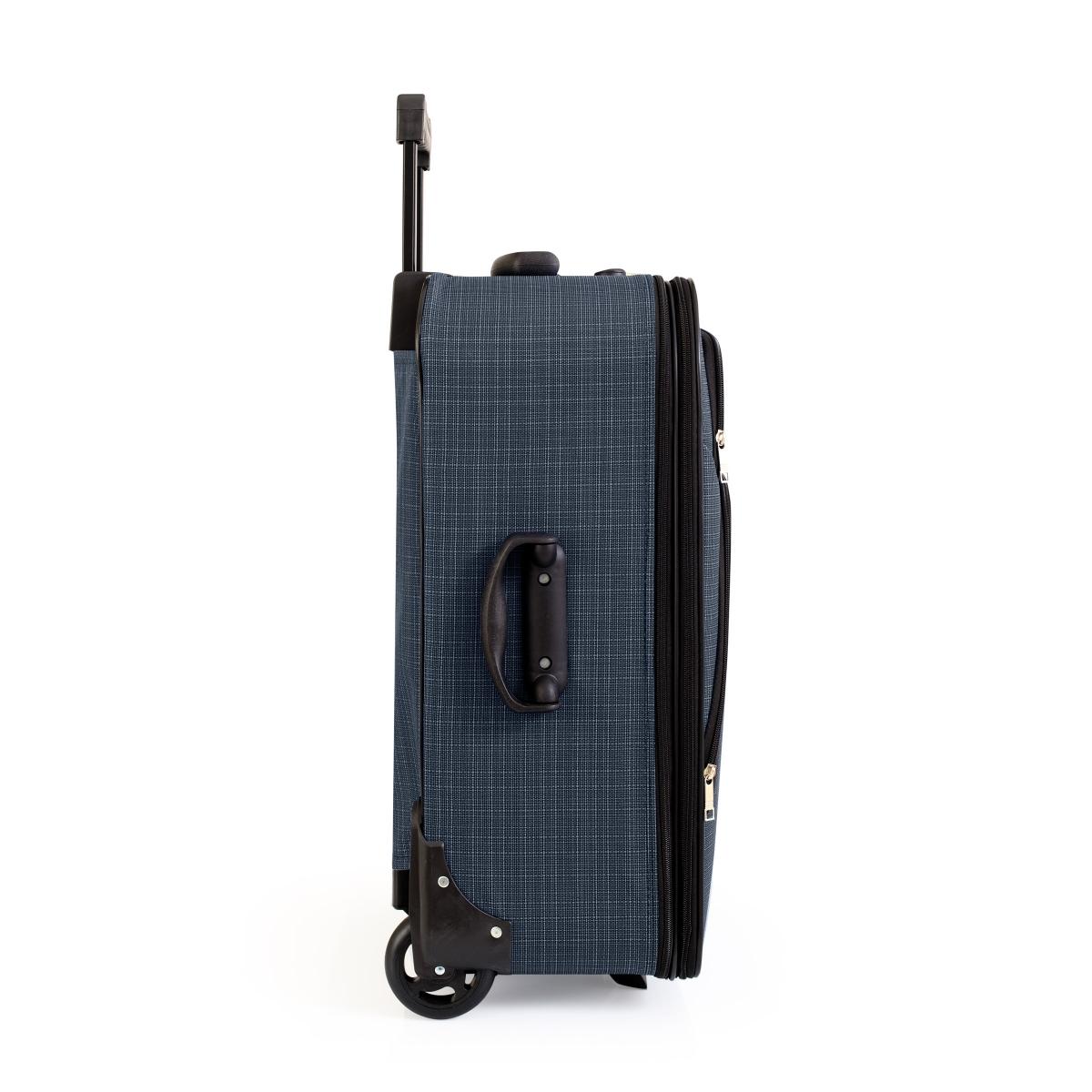 Gedox 2 Teker Geniş Kasa Havlu Kumaş 3'lü Valiz Seyahat Seti - Model: 1005.04 Lacivert
