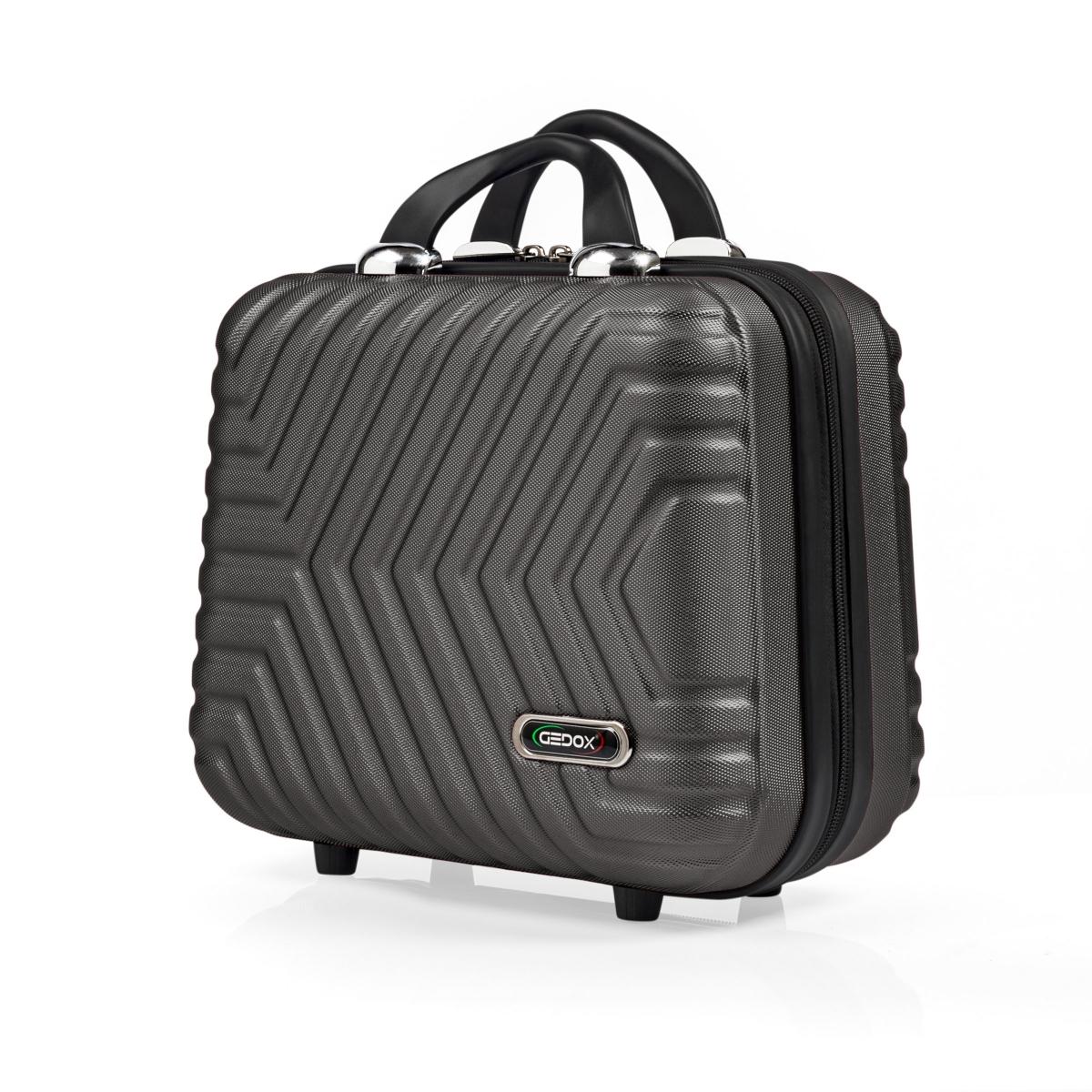 G&D Polo Suitcase Abs Makyaj&Hostes El Çantası Model:615.02 Koyu Gri