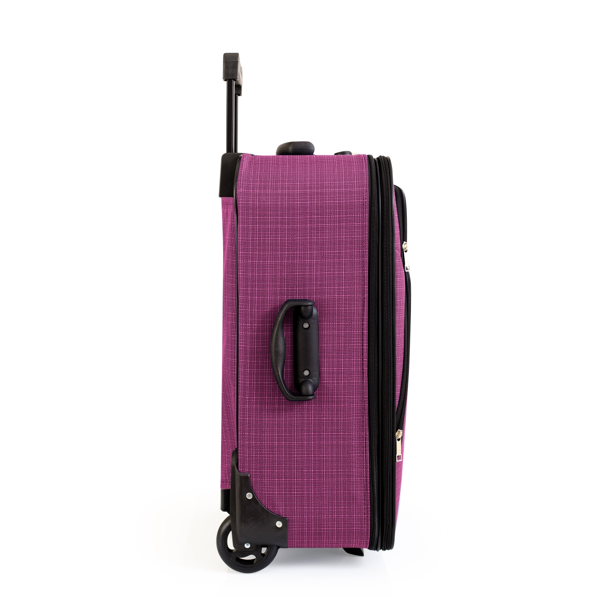 Gedox 2 Teker Geniş Kasa Havlu Kumaş 3'lü Valiz Seyahat Seti - Model: 1005.09 Mürdüm