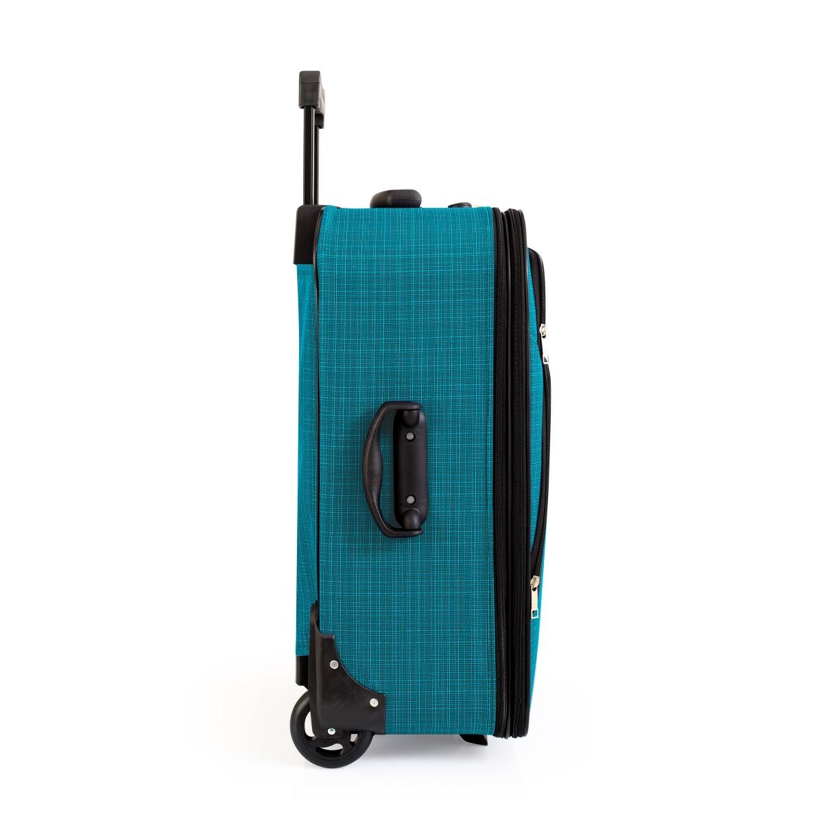 Gedox 2 Teker Geniş Kasa Havlu Kumaş 3'lü Valiz Seyahat Seti - Model: 1005.16 Turkuaz