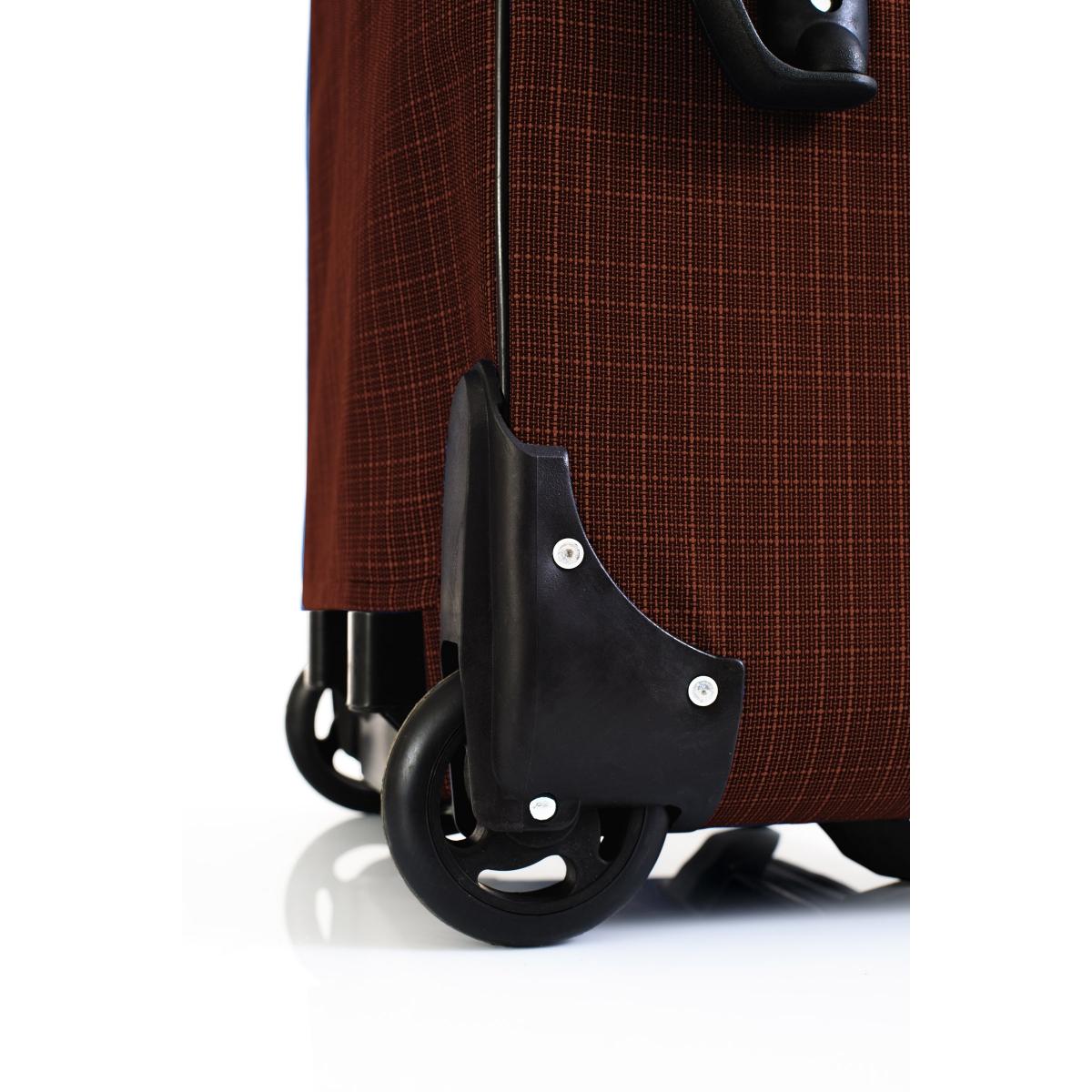 Gedox 2 Teker Geniş Kasa Havlu Kumaş 3'lü Valiz Seyahat Seti - Model: 1005.20 Kahve